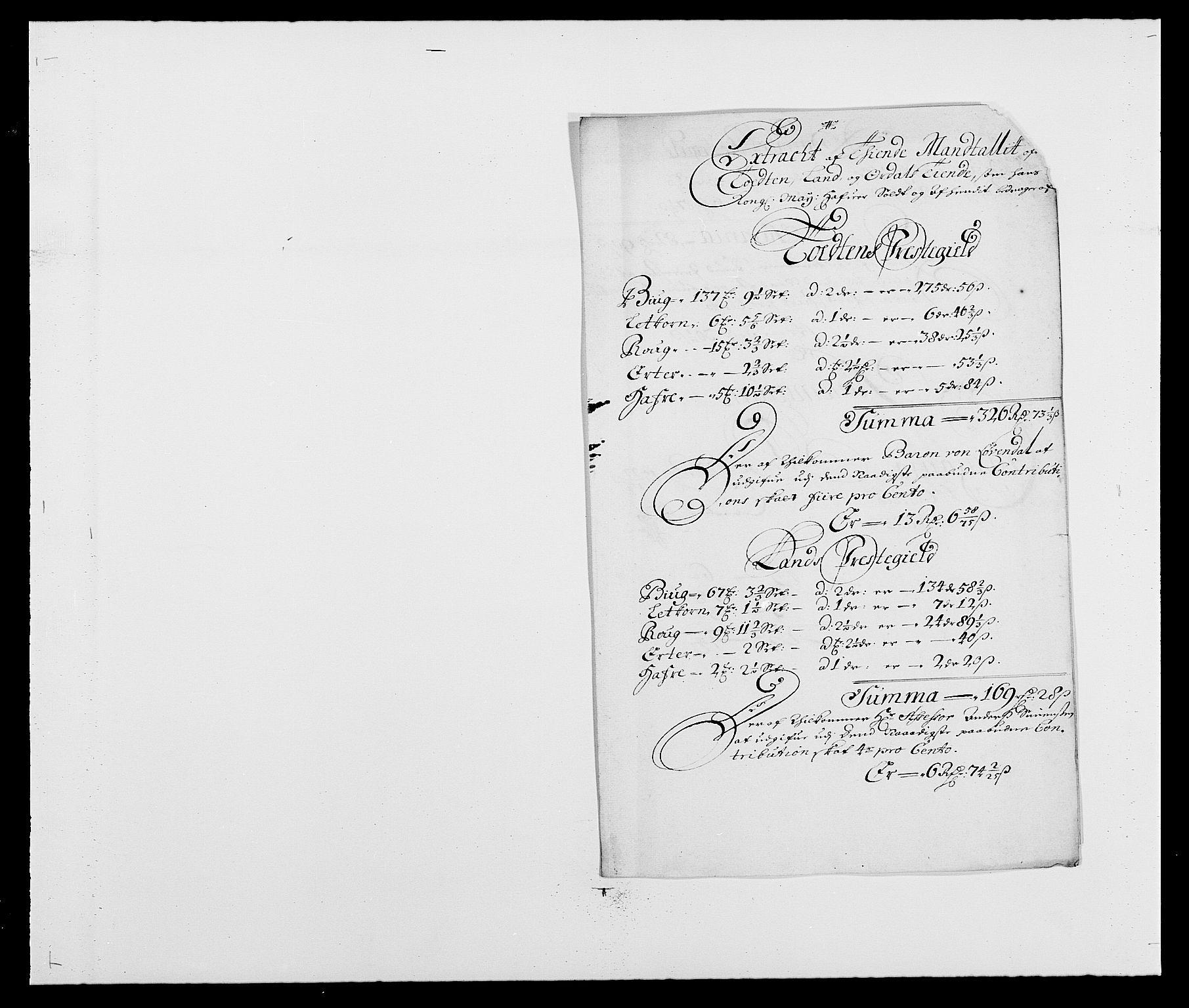 RA, Rentekammeret inntil 1814, Reviderte regnskaper, Fogderegnskap, R18/L1283: Fogderegnskap Hadeland, Toten og Valdres, 1684, s. 245