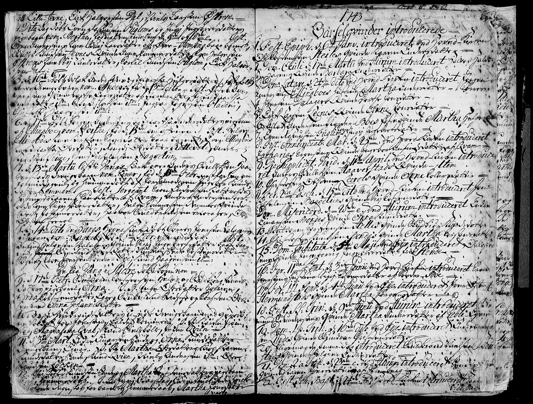 SAH, Vang prestekontor, Valdres, Ministerialbok nr. 1, 1730-1796, s. 38-39