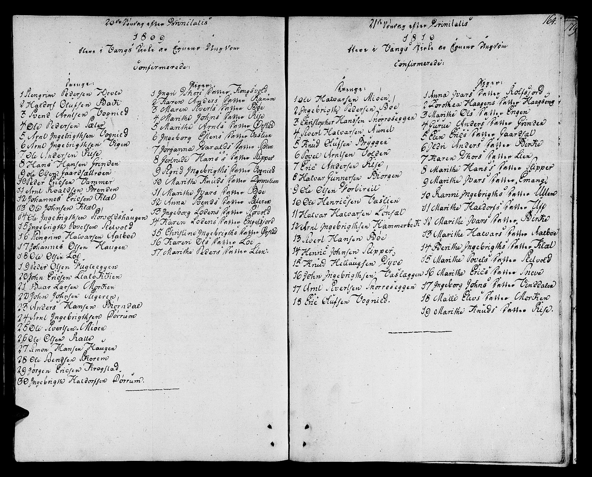 SAT, Ministerialprotokoller, klokkerbøker og fødselsregistre - Sør-Trøndelag, 678/L0894: Ministerialbok nr. 678A04, 1806-1815, s. 164
