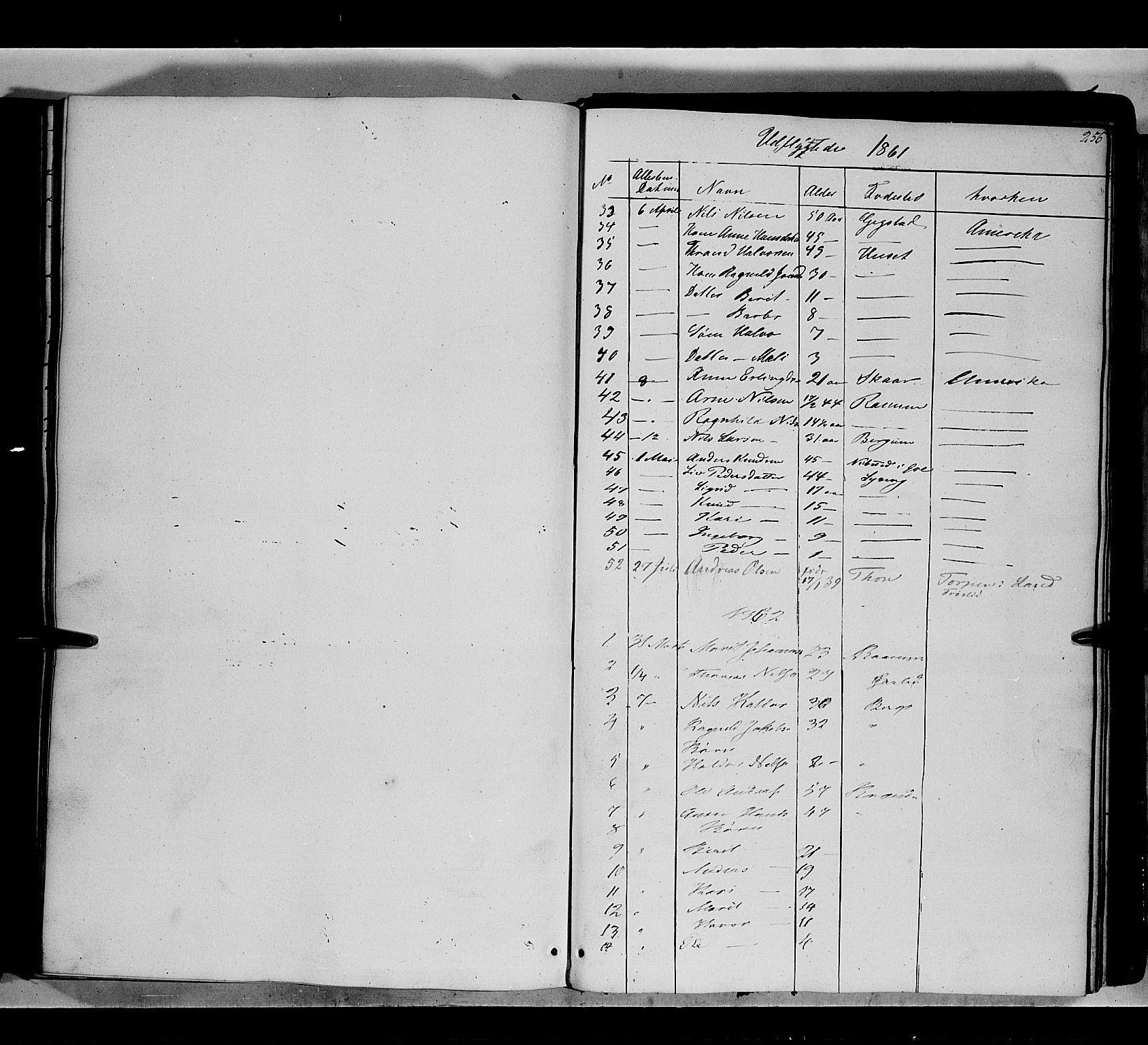 SAH, Nord-Aurdal prestekontor, Ministerialbok nr. 7, 1842-1863, s. 256
