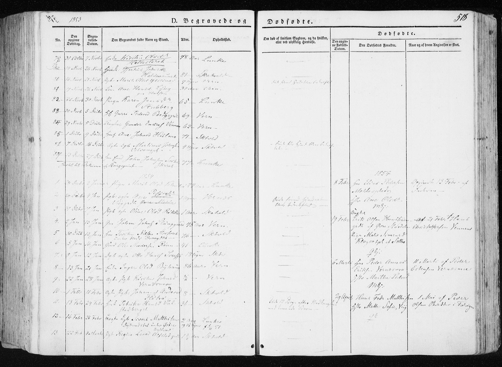 SAT, Ministerialprotokoller, klokkerbøker og fødselsregistre - Nord-Trøndelag, 709/L0074: Ministerialbok nr. 709A14, 1845-1858, s. 518
