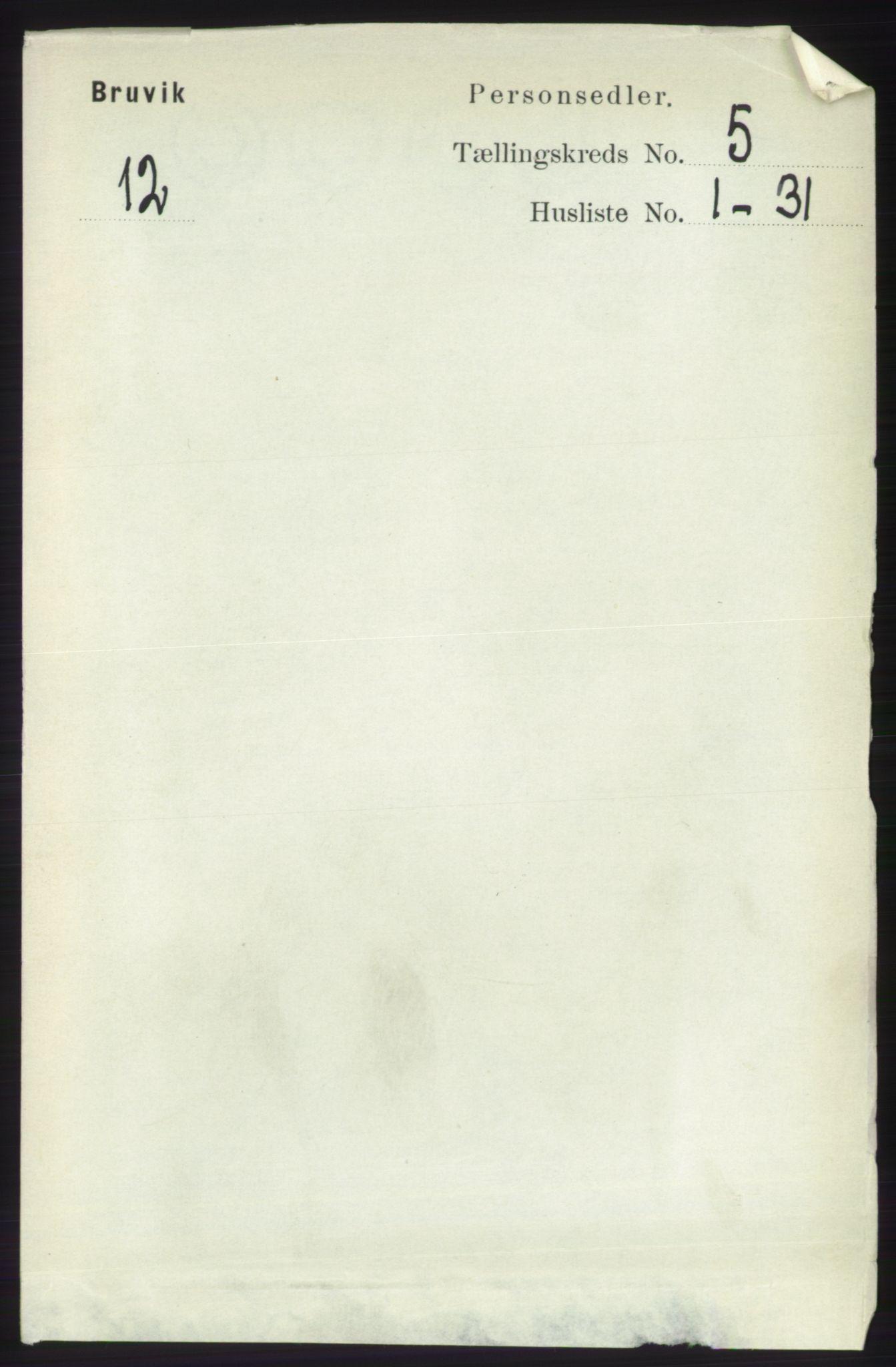 RA, Folketelling 1891 for 1251 Bruvik herred, 1891, s. 1278