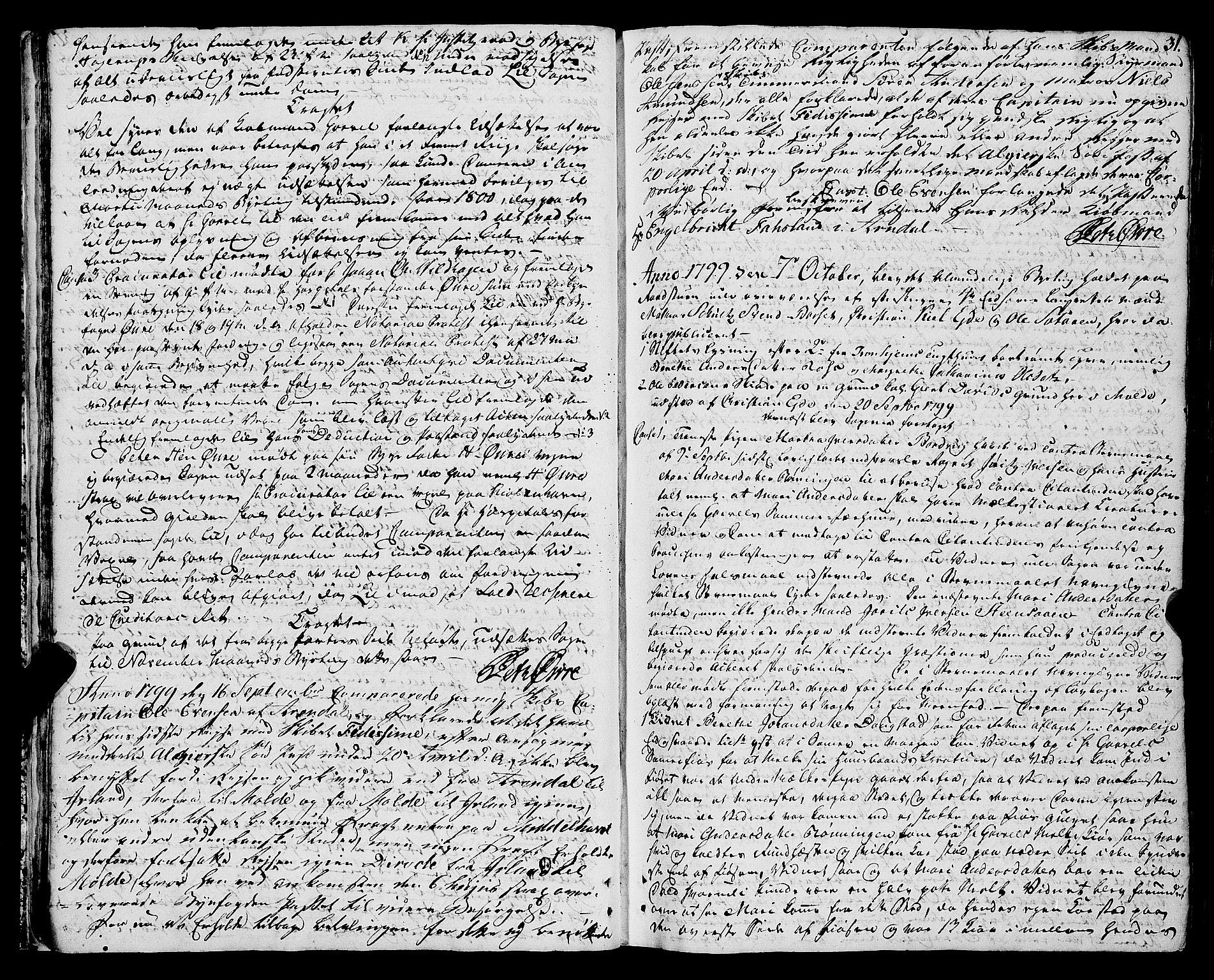 SAT, Molde byfogd, 1/1A/L0002: Justisprotokoll, 1797-1831, s. 30b-31a