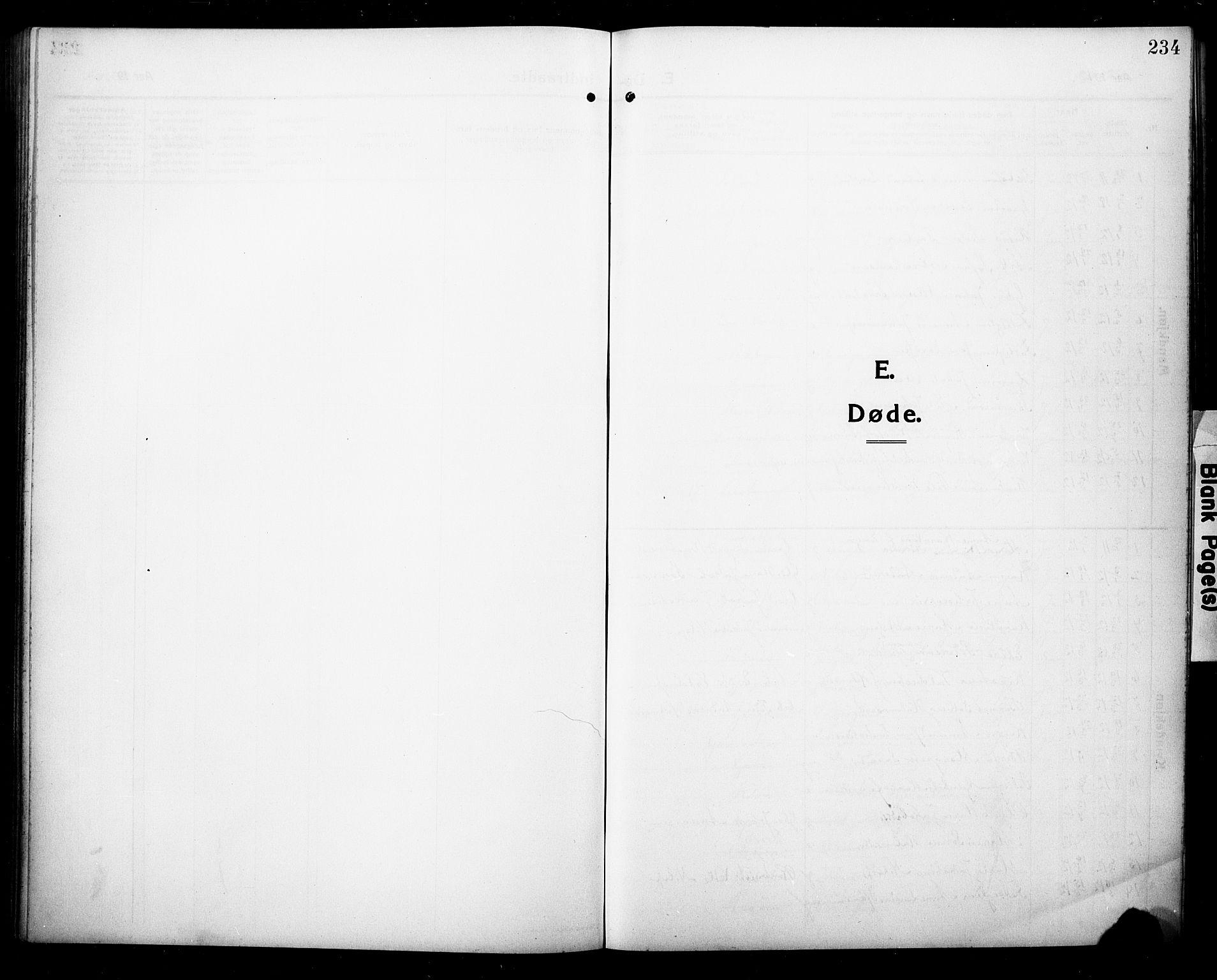 SAKO, Eidanger kirkebøker, G/Ga/L0004: Klokkerbok nr. 4, 1912-1927, s. 234