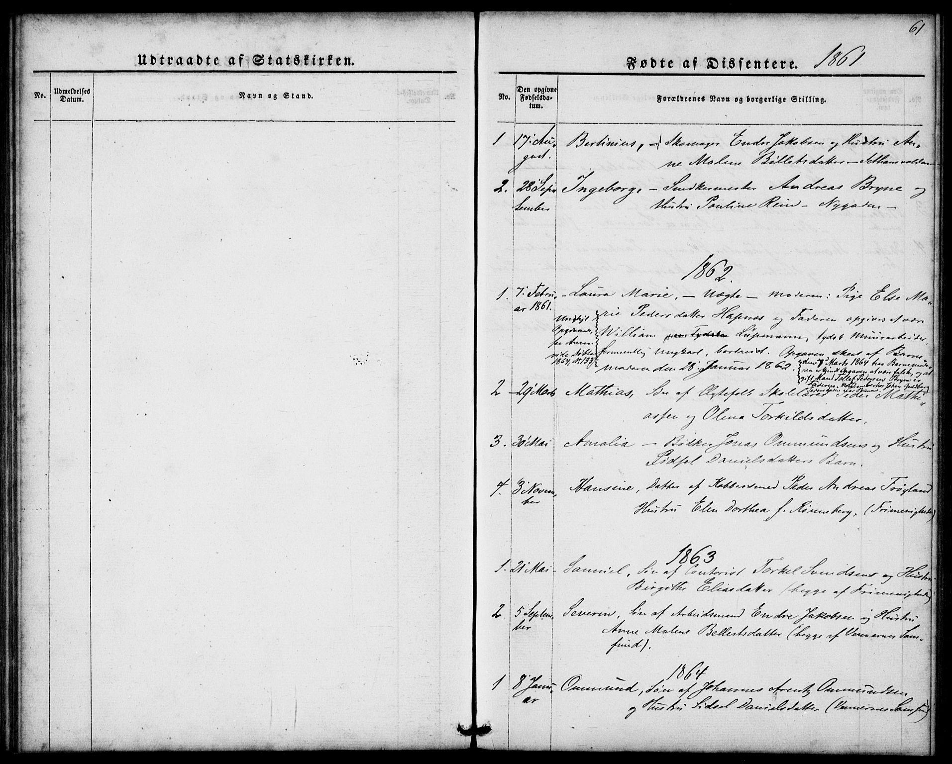 SAST, St. Petri sokneprestkontor, 30/30BA/L0005: Ministerialbok nr. A 5, 1861-1865, s. 61