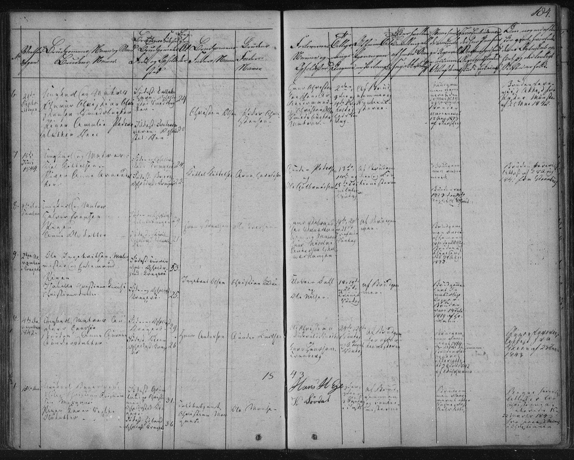 SAKO, Kragerø kirkebøker, F/Fa/L0005: Ministerialbok nr. 5, 1832-1847, s. 184