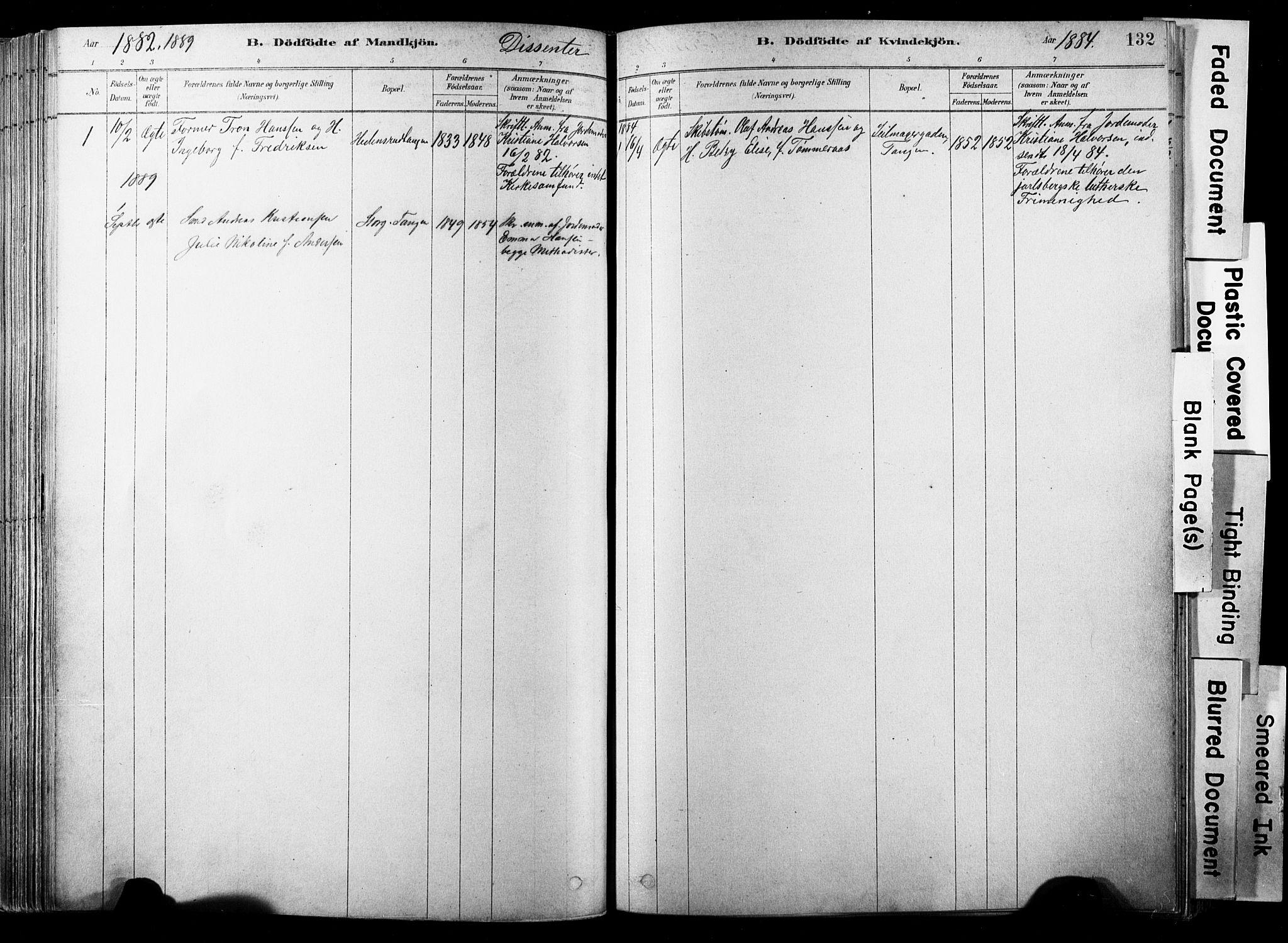 SAKO, Strømsø kirkebøker, F/Fb/L0006: Ministerialbok nr. II 6, 1879-1910, s. 132
