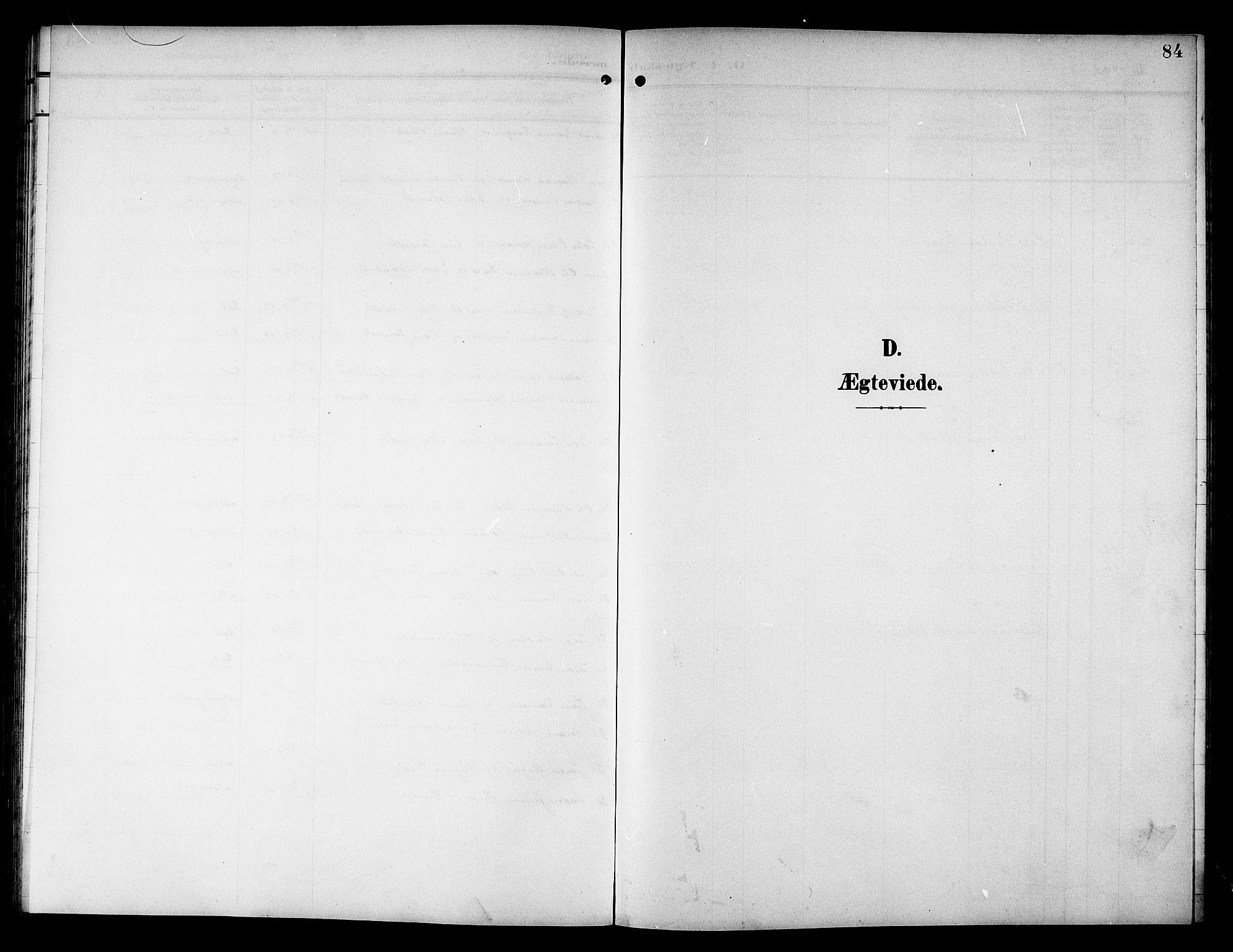 SAT, Ministerialprotokoller, klokkerbøker og fødselsregistre - Nord-Trøndelag, 757/L0506: Klokkerbok nr. 757C01, 1904-1922, s. 84