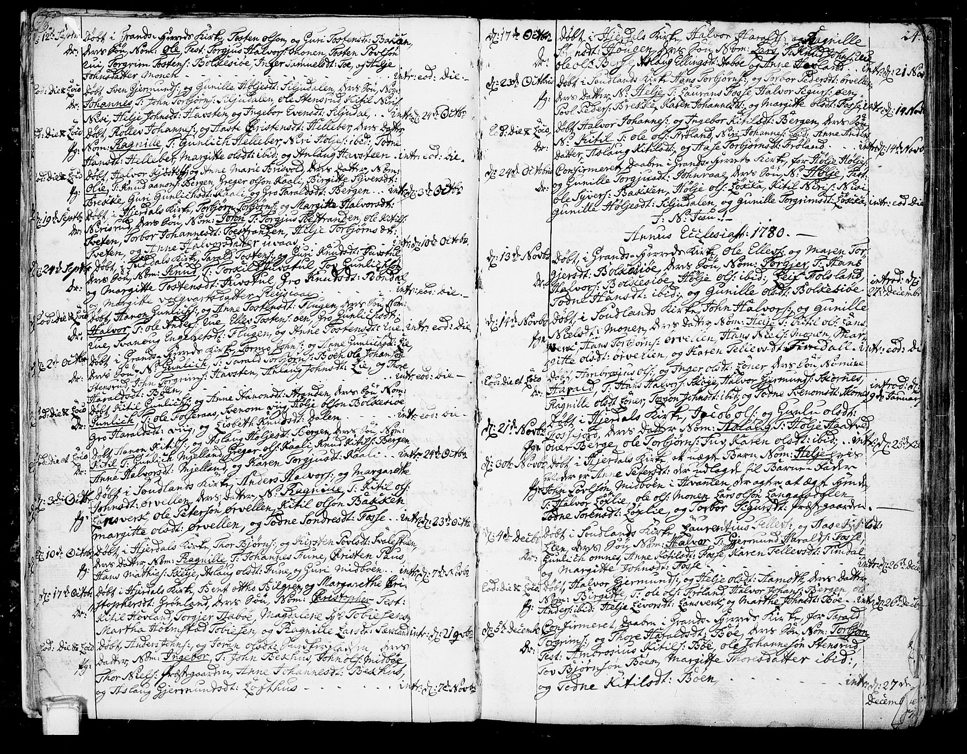 SAKO, Hjartdal kirkebøker, F/Fa/L0005: Ministerialbok nr. I 5, 1776-1801, s. 23-24