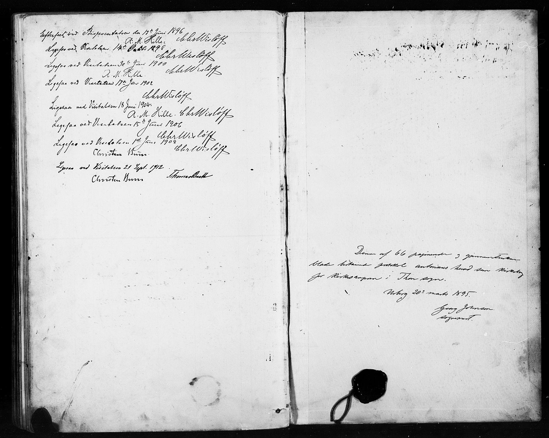 SAH, Etnedal prestekontor, H/Ha/Hab/Habb/L0001: Klokkerbok nr. II 1, 1894-1911