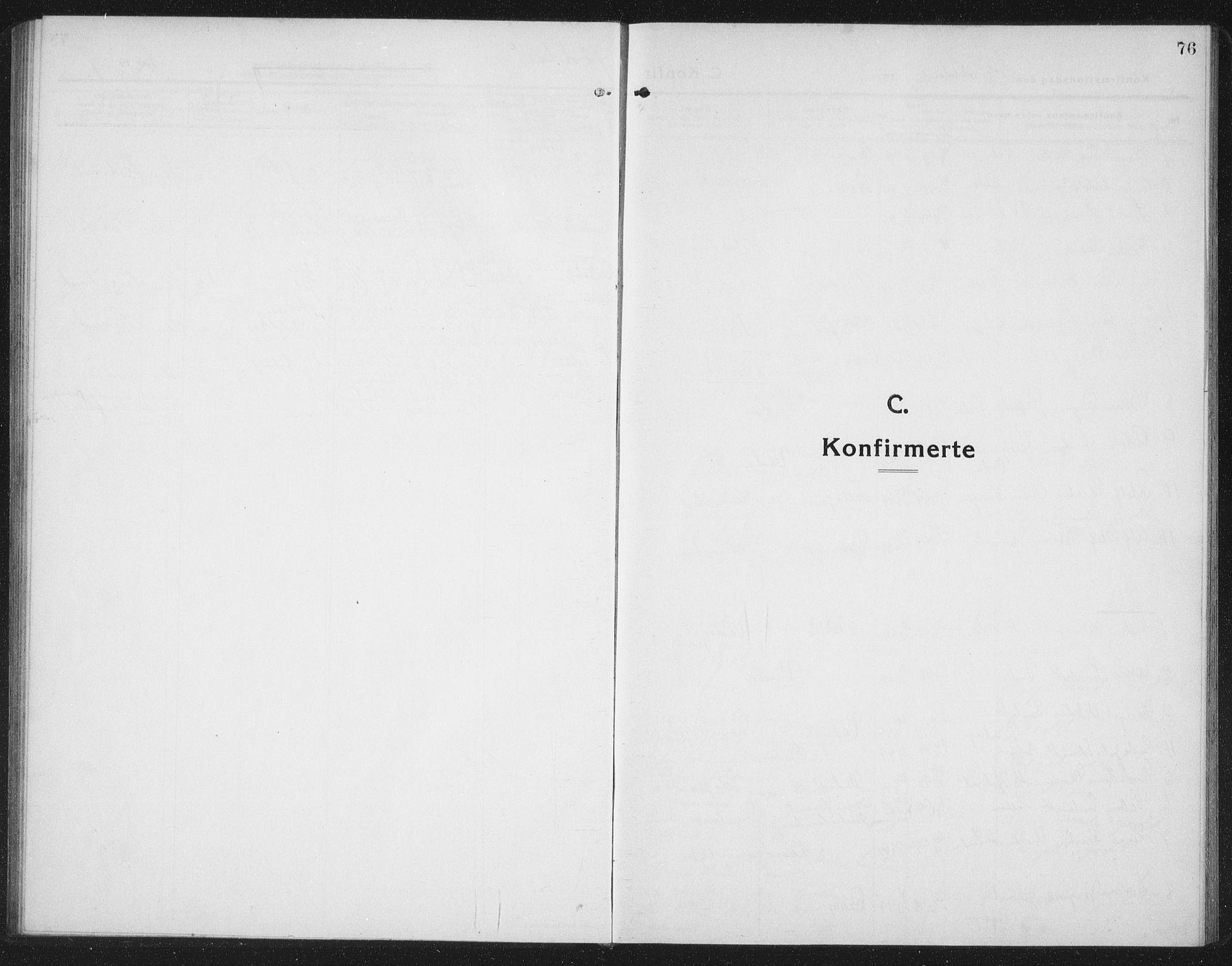 SAT, Ministerialprotokoller, klokkerbøker og fødselsregistre - Nord-Trøndelag, 745/L0434: Klokkerbok nr. 745C03, 1914-1937, s. 76