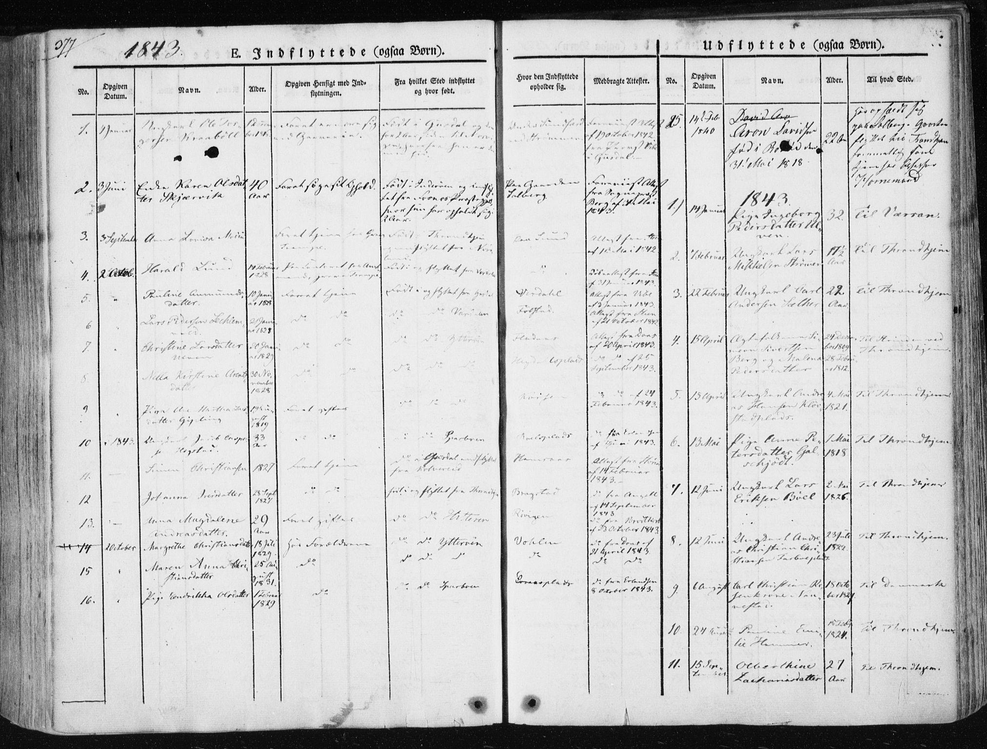 SAT, Ministerialprotokoller, klokkerbøker og fødselsregistre - Nord-Trøndelag, 730/L0280: Ministerialbok nr. 730A07 /1, 1840-1854, s. 377