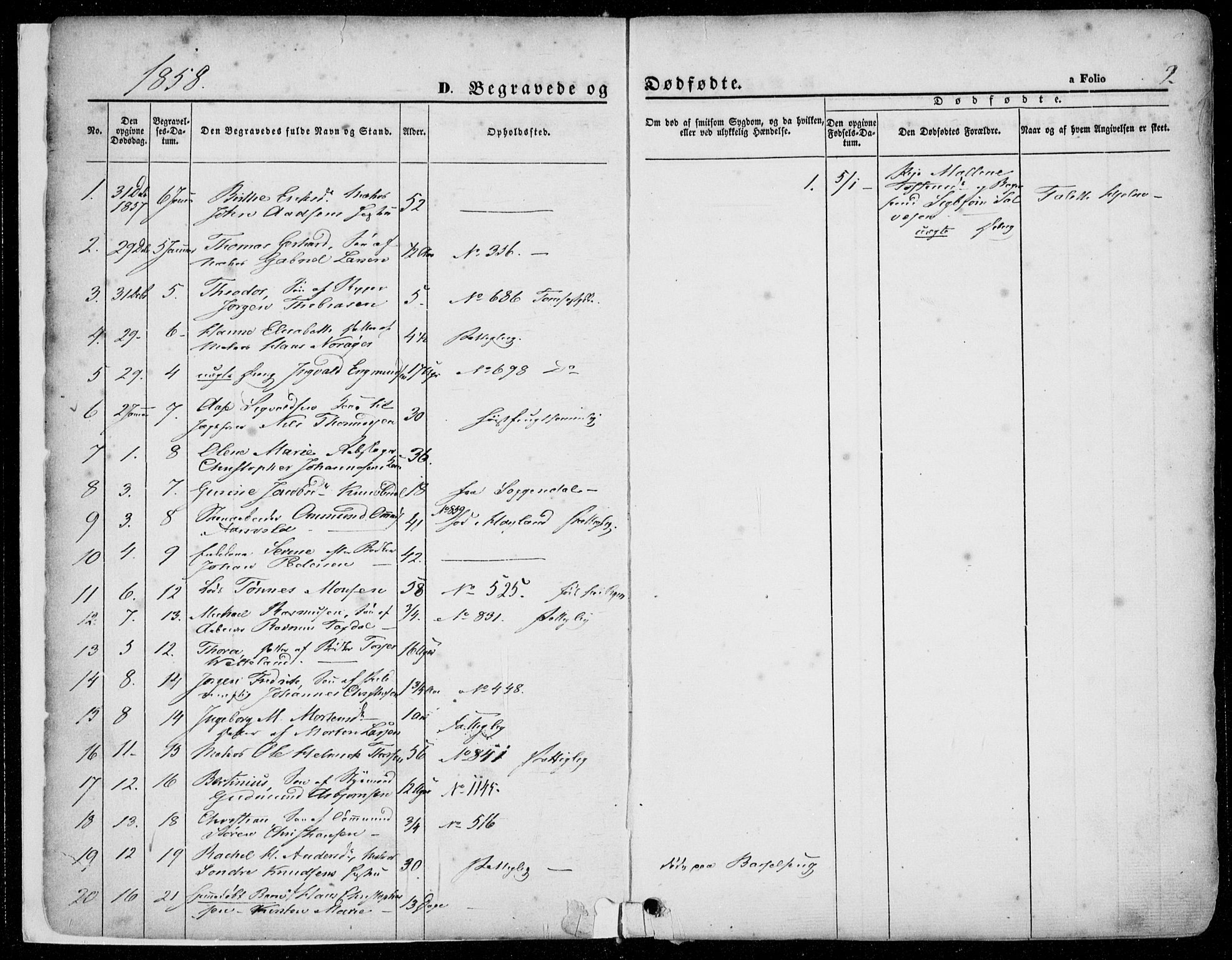 SAST, Domkirken sokneprestkontor, 30/30BA/L0020: Ministerialbok nr. A 19, 1858-1877, s. 2