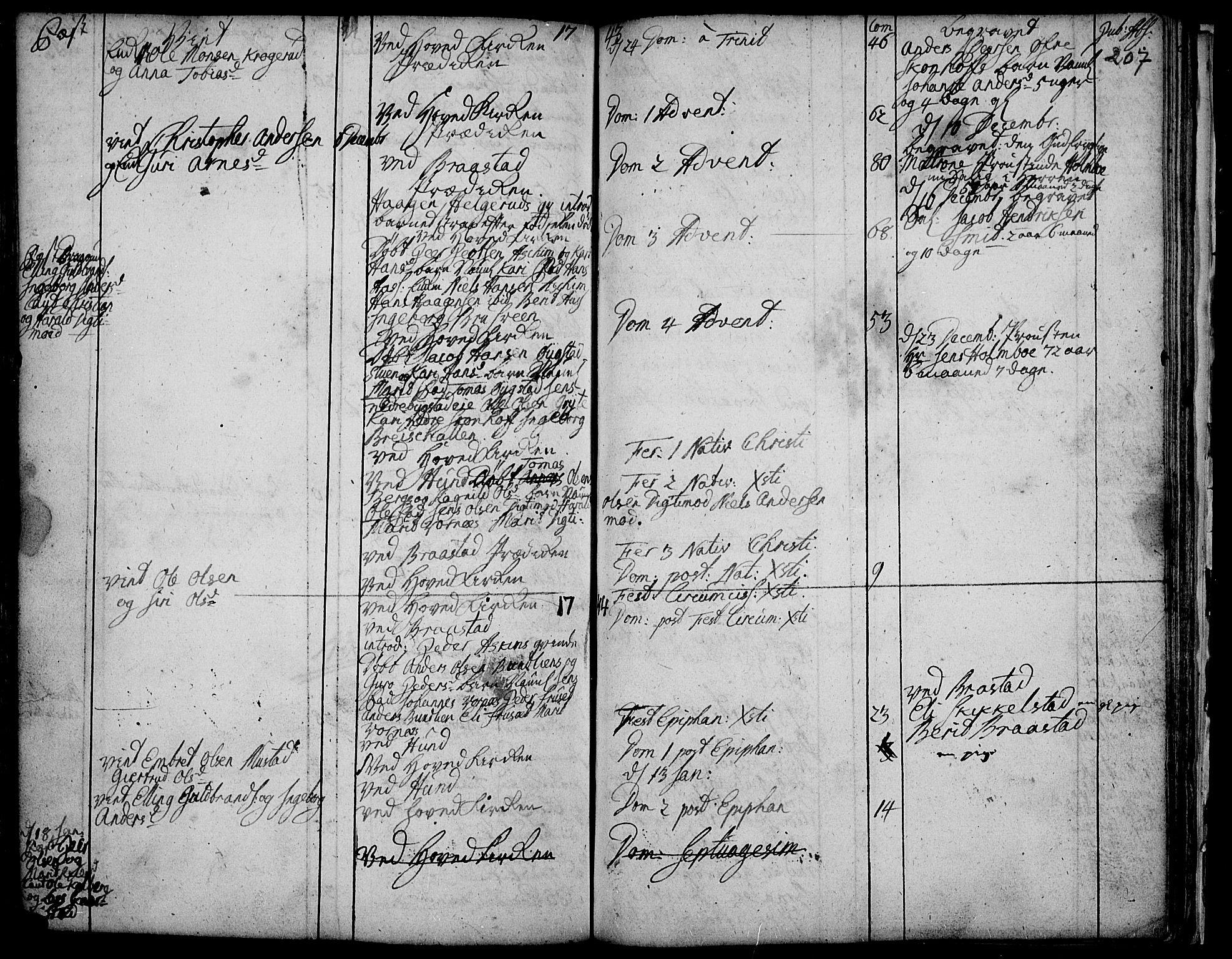 SAH, Vardal prestekontor, H/Ha/Haa/L0001: Ministerialbok nr. 1, 1706-1748, s. 207
