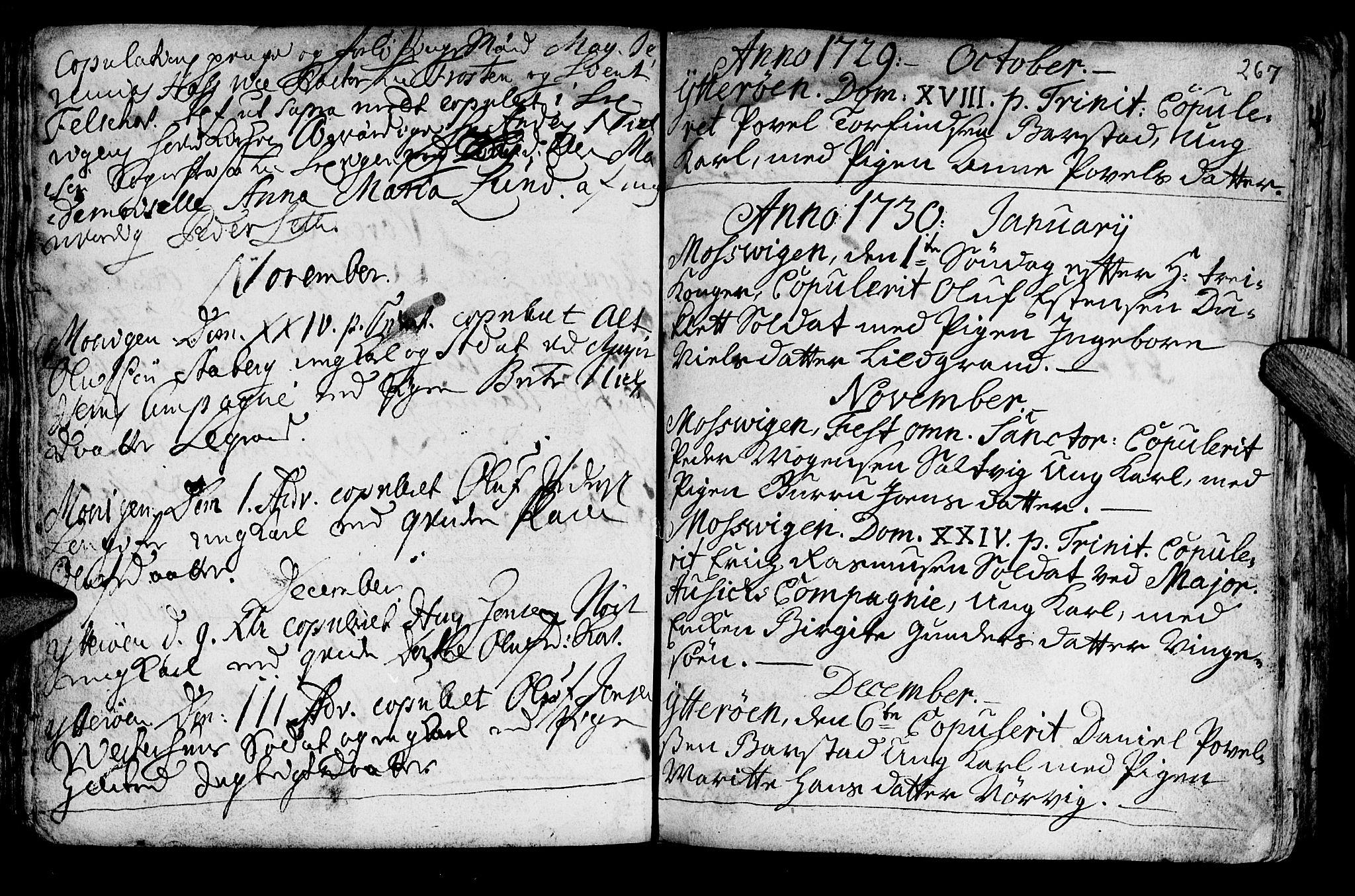 SAT, Ministerialprotokoller, klokkerbøker og fødselsregistre - Nord-Trøndelag, 722/L0215: Ministerialbok nr. 722A02, 1718-1755, s. 267