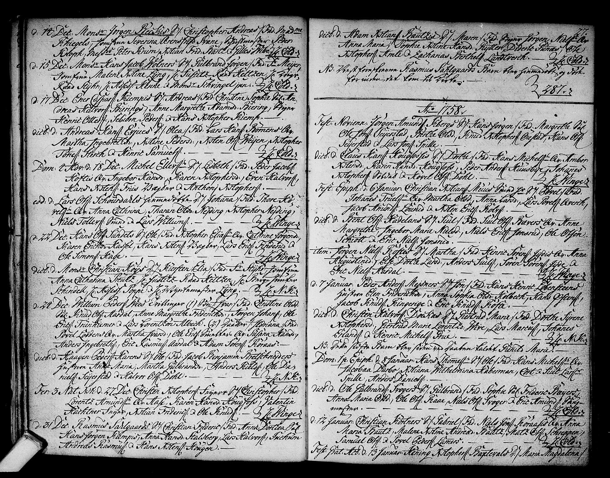 SAKO, Kongsberg kirkebøker, F/Fa/L0004: Ministerialbok nr. I 4, 1756-1768, s. 27