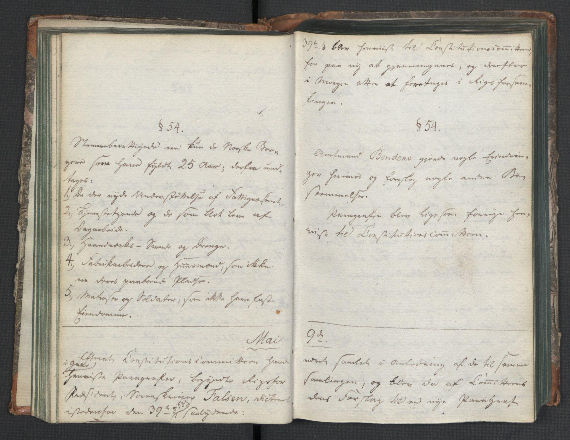 RA, Manuskriptsamlingen, H/L0021: Byfogd Gregers Winther Wulfbergs dagbok under Riksforsamlingen på Eidsvoll, 1814, s. upaginert