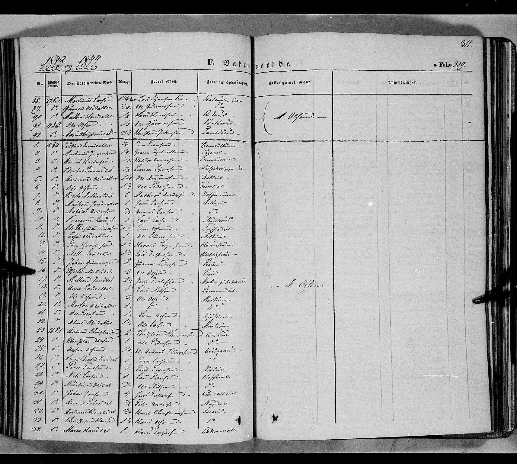 SAH, Biri prestekontor, Ministerialbok nr. 5, 1843-1854, s. 311