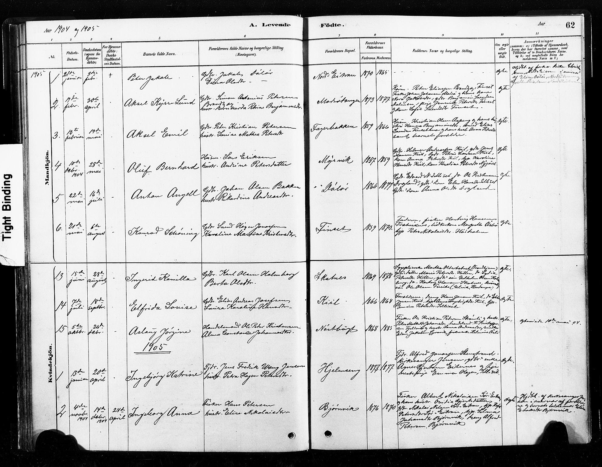 SAT, Ministerialprotokoller, klokkerbøker og fødselsregistre - Nord-Trøndelag, 789/L0705: Ministerialbok nr. 789A01, 1878-1910, s. 62