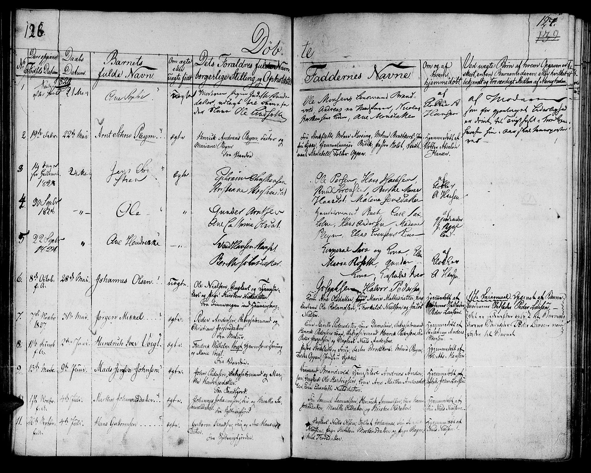 SATØ, Vardø sokneprestkontor, H/Ha/L0002kirke: Ministerialbok nr. 2, 1805-1842, s. 126-127