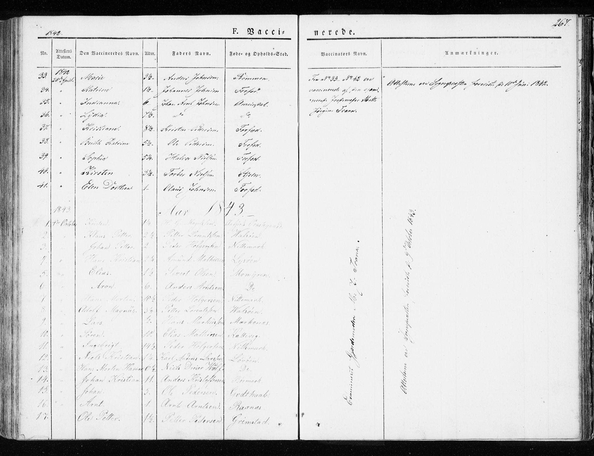 SAT, Ministerialprotokoller, klokkerbøker og fødselsregistre - Sør-Trøndelag, 655/L0676: Ministerialbok nr. 655A05, 1830-1847, s. 267