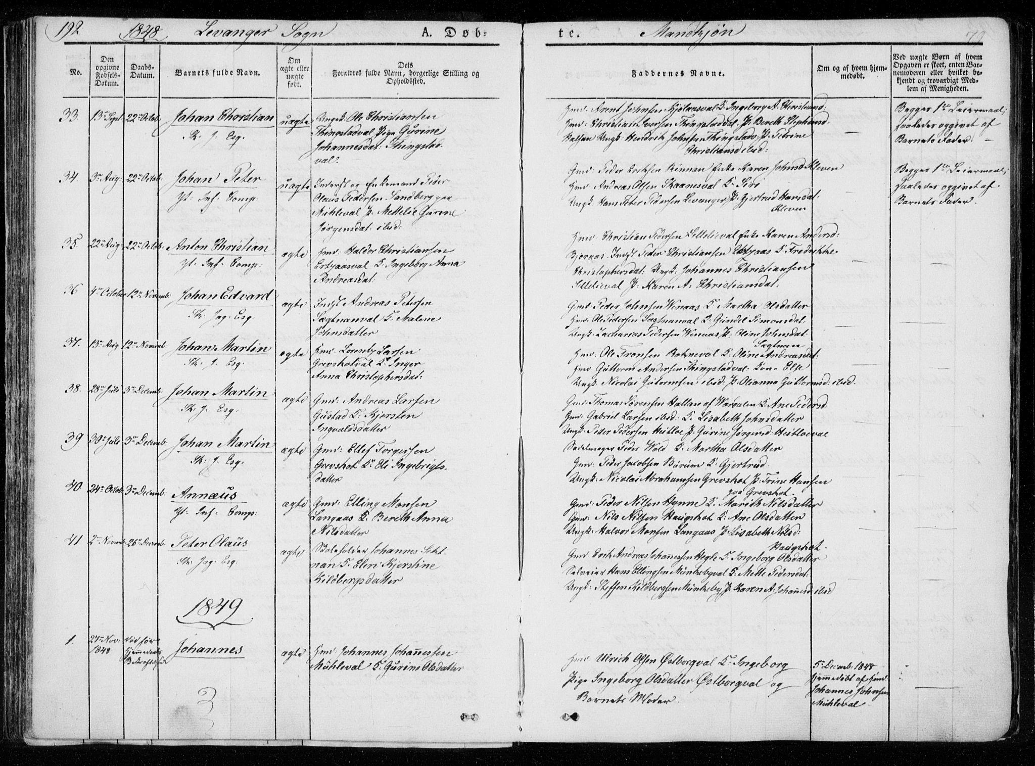 SAT, Ministerialprotokoller, klokkerbøker og fødselsregistre - Nord-Trøndelag, 720/L0183: Ministerialbok nr. 720A01, 1836-1855, s. 79