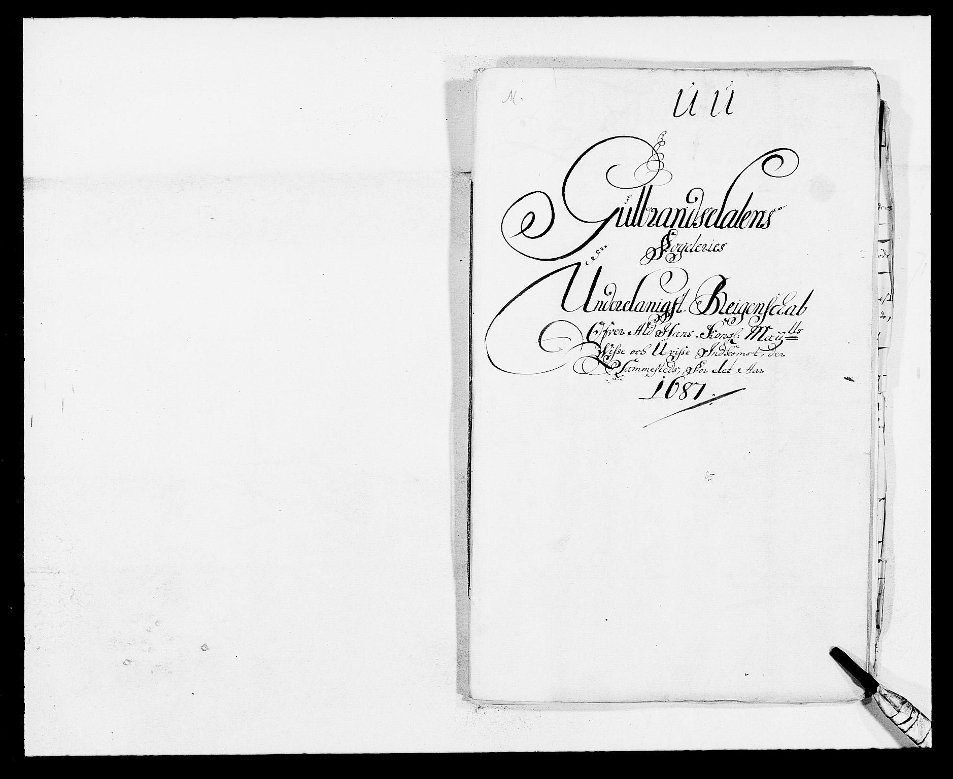 RA, Rentekammeret inntil 1814, Reviderte regnskaper, Fogderegnskap, R17/L1162: Fogderegnskap Gudbrandsdal, 1682-1689, s. 1