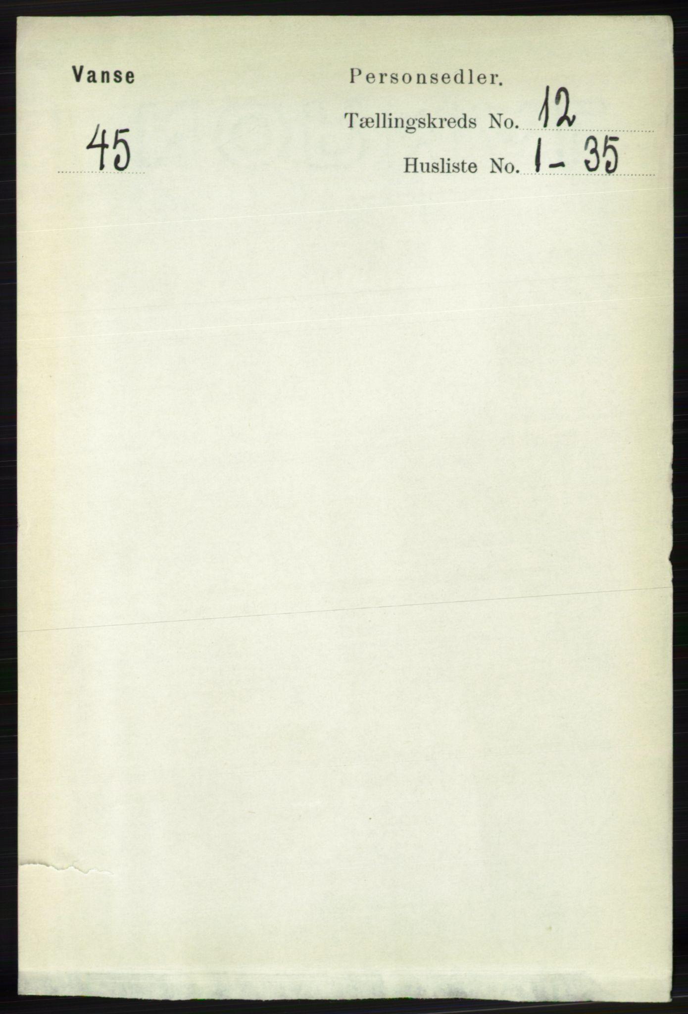 RA, Folketelling 1891 for 1041 Vanse herred, 1891, s. 6805