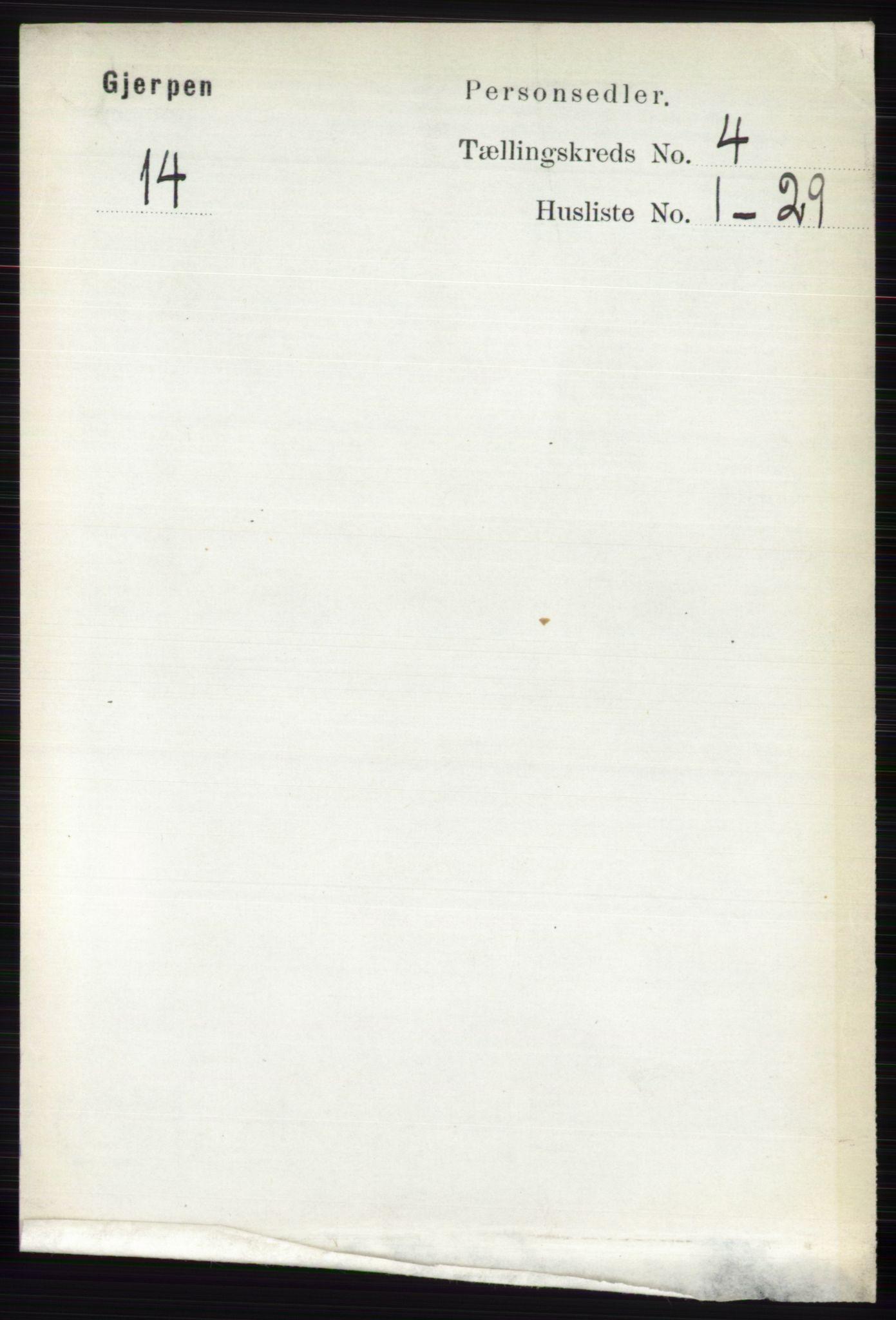 RA, Folketelling 1891 for 0812 Gjerpen herred, 1891, s. 1949