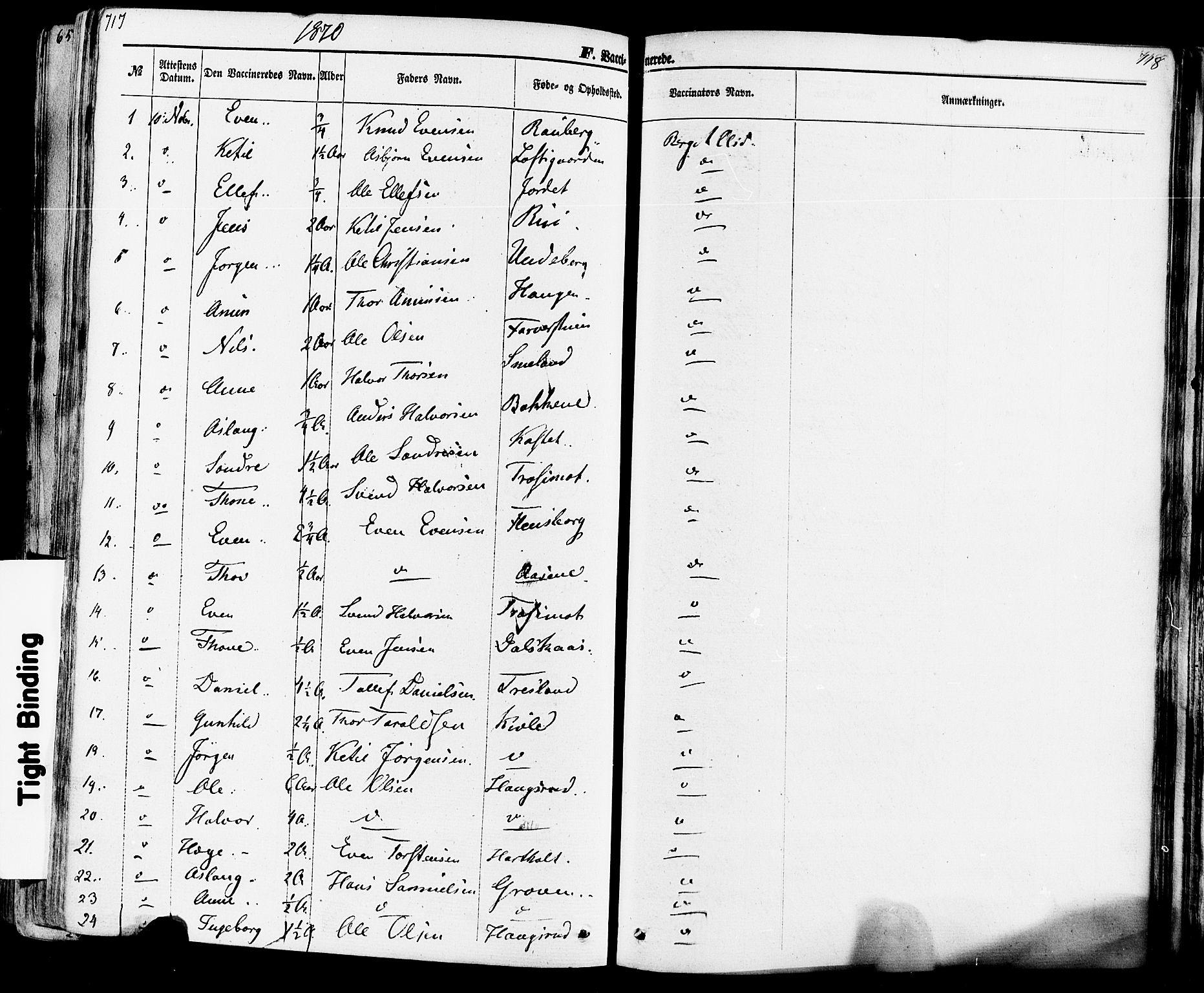 SAKO, Seljord kirkebøker, F/Fa/L0013: Ministerialbok nr. I 13, 1866-1876, s. 717-718