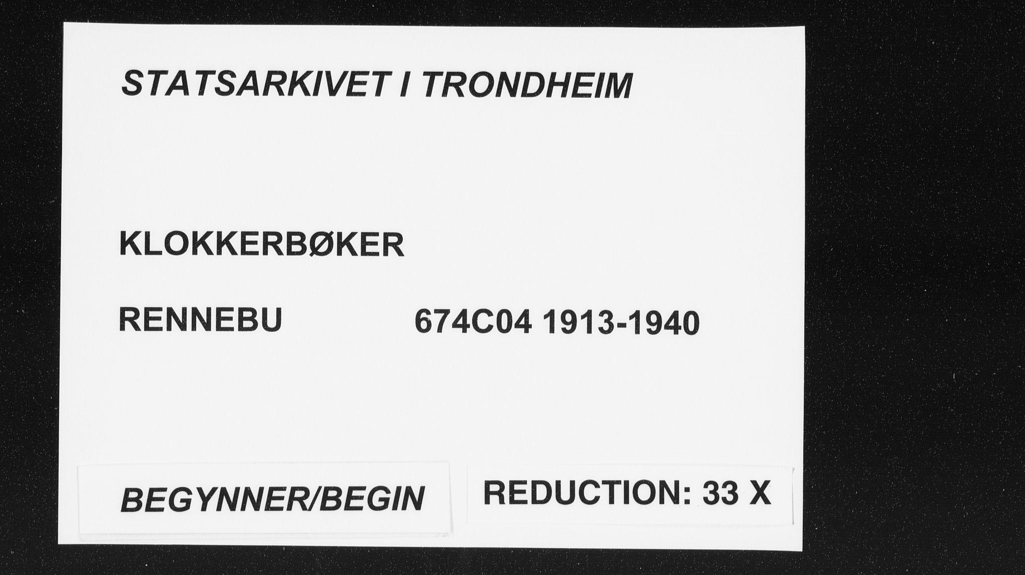 SAT, Ministerialprotokoller, klokkerbøker og fødselsregistre - Sør-Trøndelag, 674/L0877: Klokkerbok nr. 674C04, 1913-1940