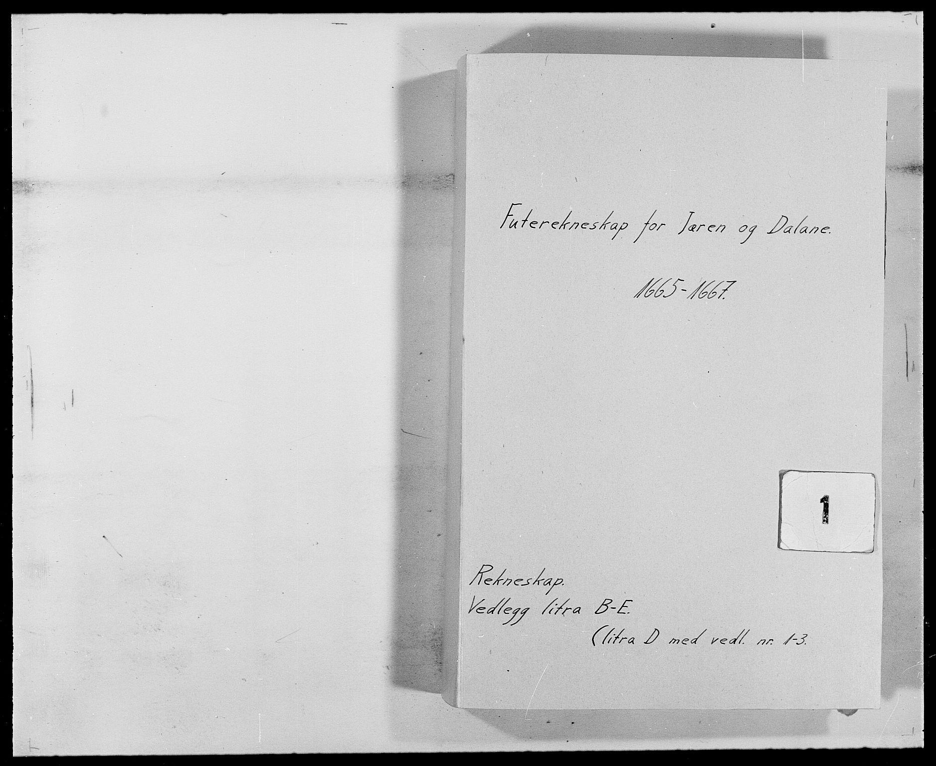RA, Rentekammeret inntil 1814, Reviderte regnskaper, Fogderegnskap, R46/L2709: Fogderegnskap Jæren og Dalane, 1665-1667, s. 1