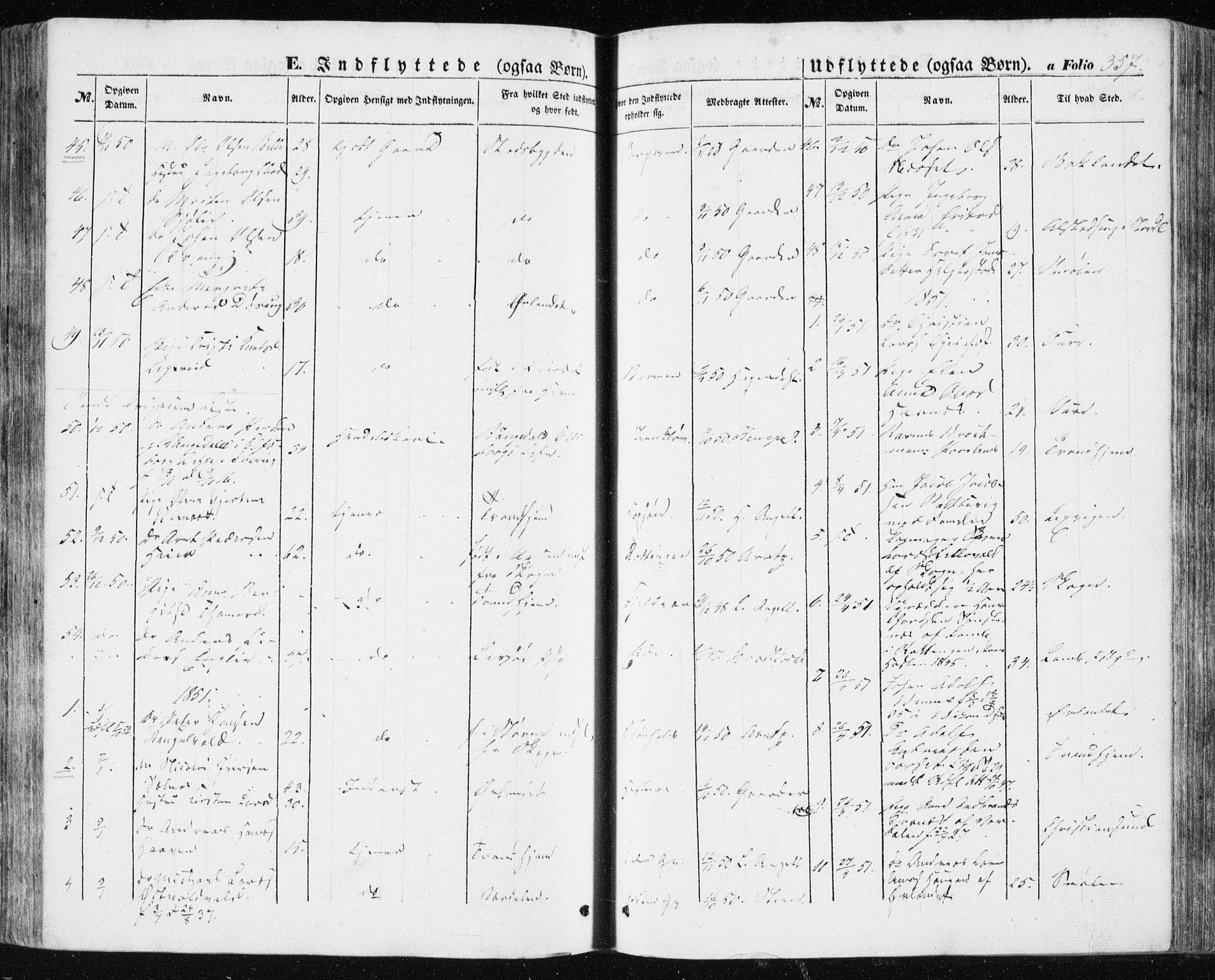 SAT, Ministerialprotokoller, klokkerbøker og fødselsregistre - Sør-Trøndelag, 634/L0529: Ministerialbok nr. 634A05, 1843-1851, s. 357