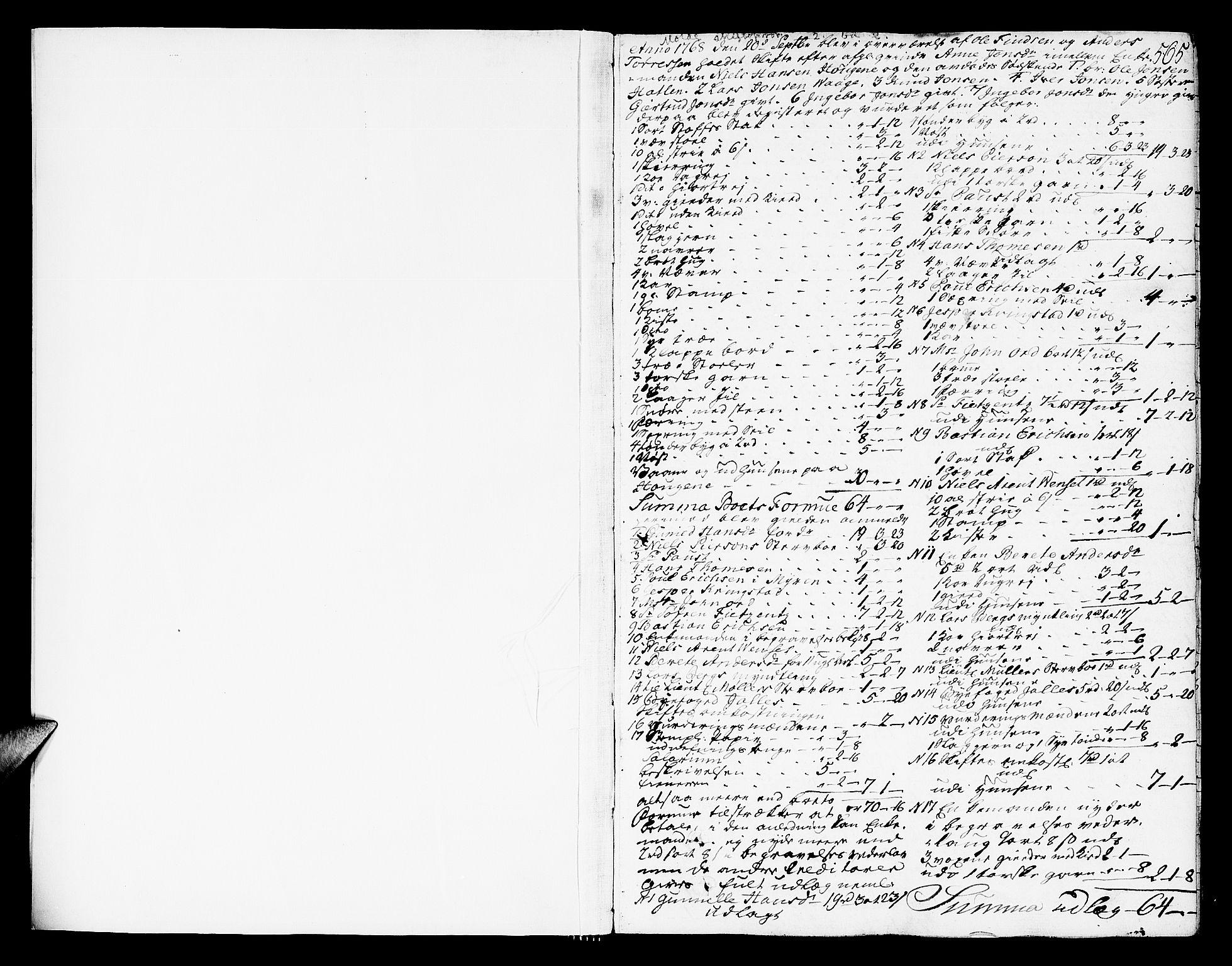 SAT, Molde byfogd, 3/3Aa/L0002: Skifteprotokoll, 1768-1787, s. 564-565