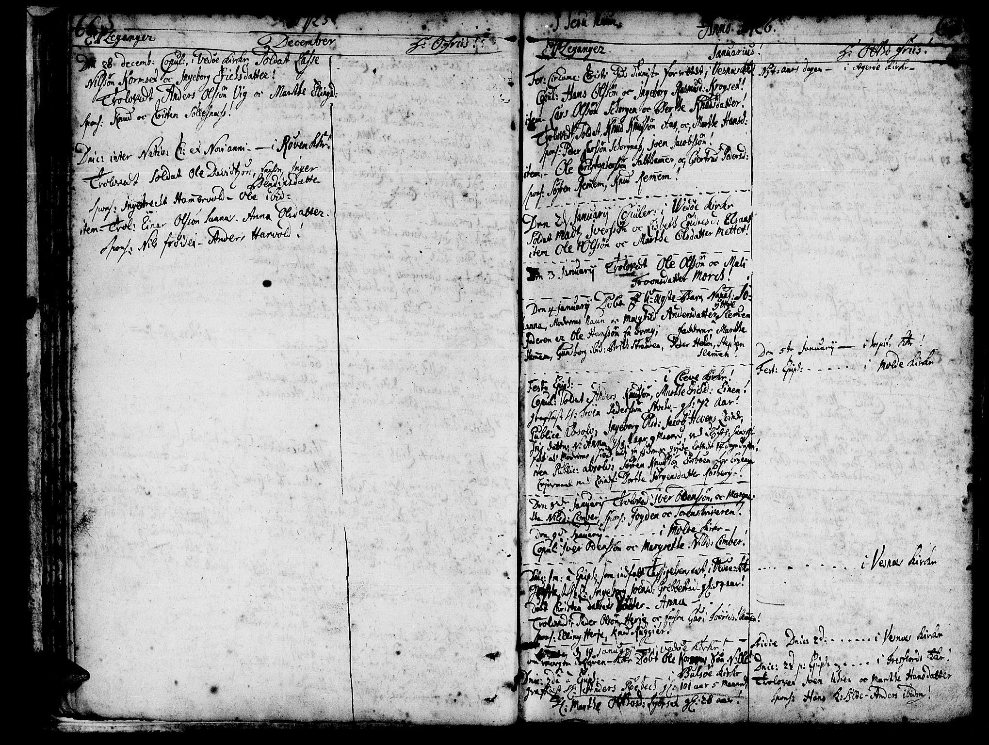 SAT, Ministerialprotokoller, klokkerbøker og fødselsregistre - Møre og Romsdal, 547/L0599: Ministerialbok nr. 547A01, 1721-1764, s. 68-69