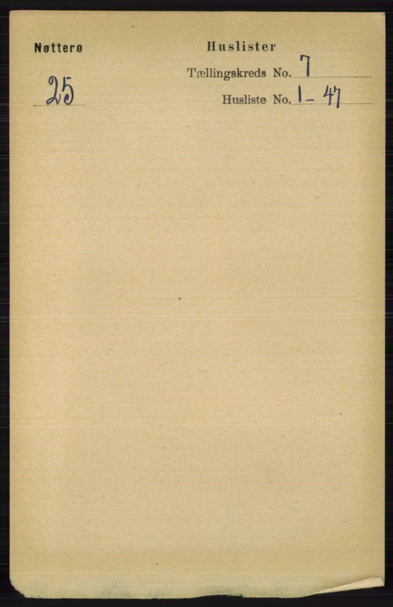 RA, Folketelling 1891 for 0722 Nøtterøy herred, 1891, s. 3421