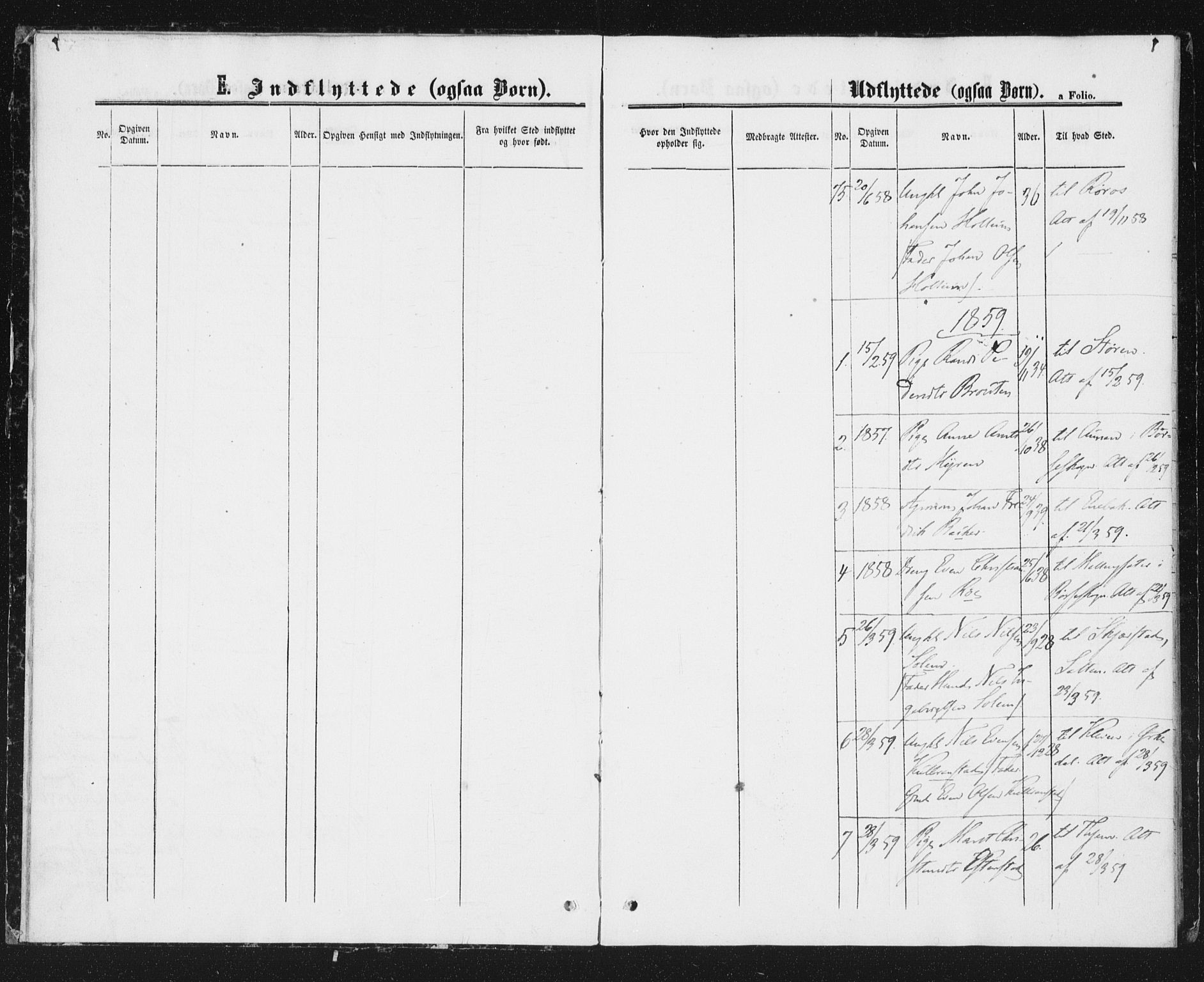 SAT, Ministerialprotokoller, klokkerbøker og fødselsregistre - Sør-Trøndelag, 691/L1078: Ministerialbok nr. 691A10, 1858-1861, s. 4