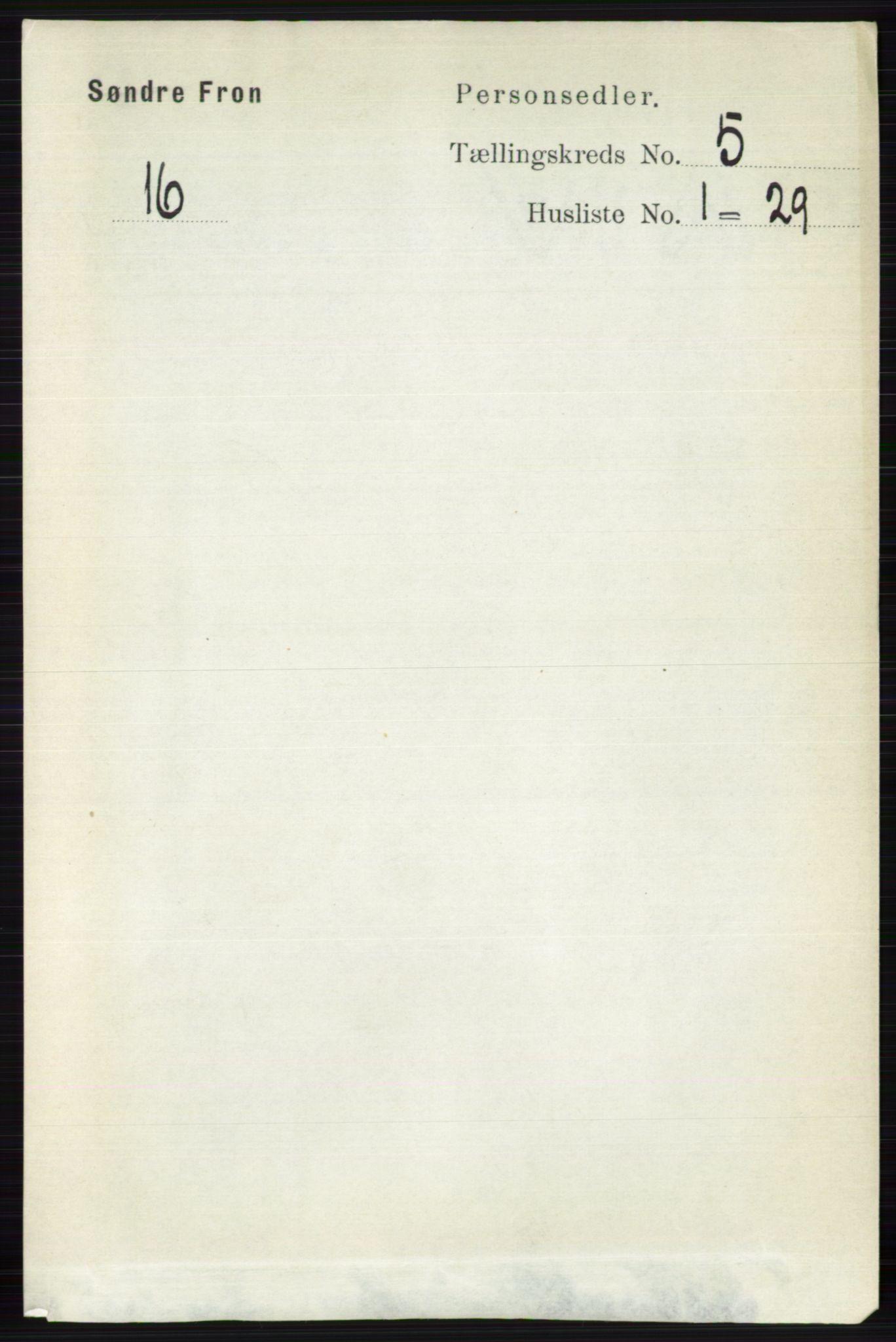 RA, Folketelling 1891 for 0519 Sør-Fron herred, 1891, s. 2046