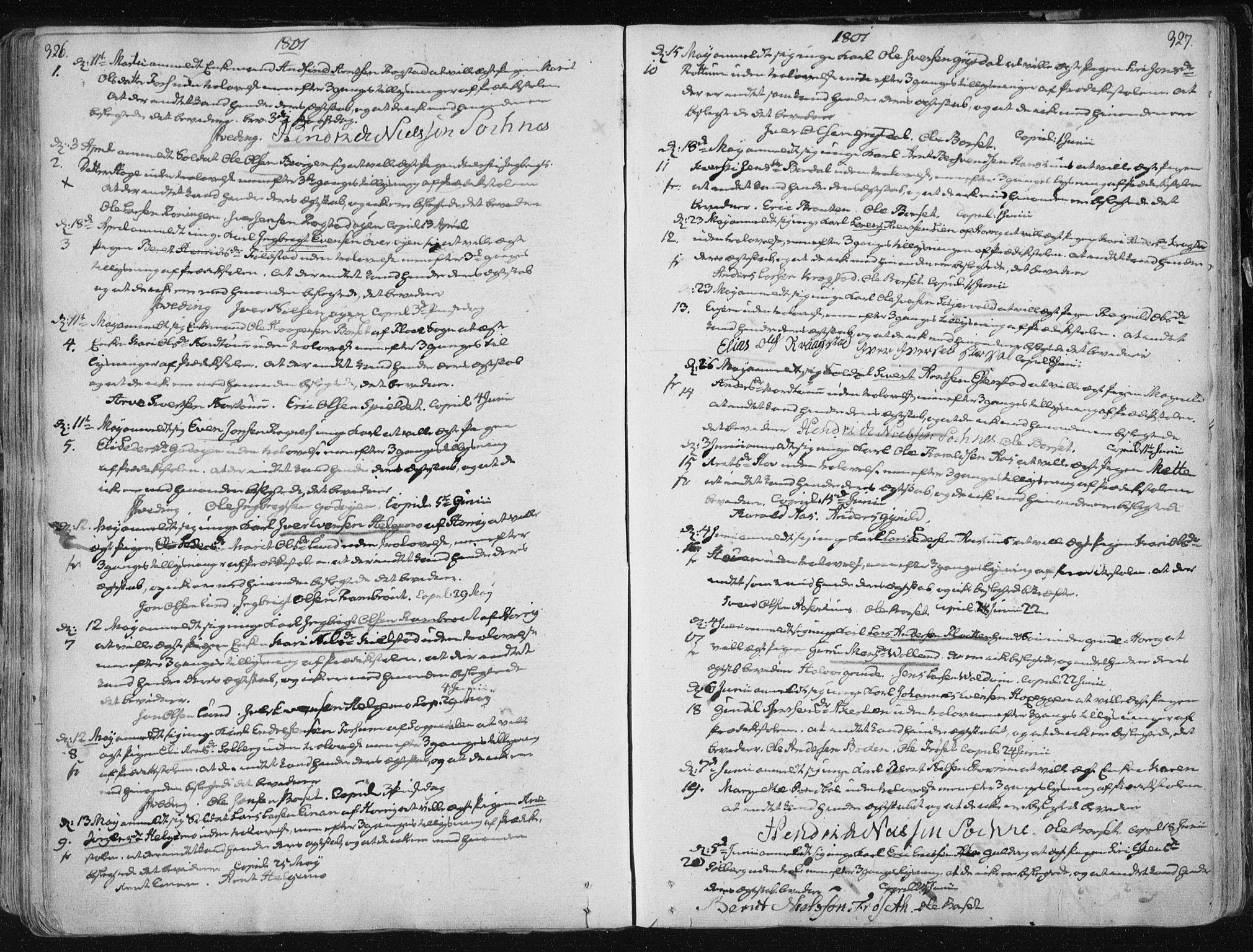 SAT, Ministerialprotokoller, klokkerbøker og fødselsregistre - Sør-Trøndelag, 687/L0992: Ministerialbok nr. 687A03 /1, 1788-1815, s. 326-327