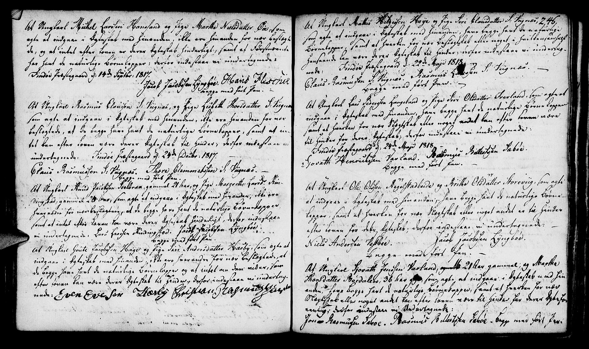SAST, Finnøy sokneprestkontor, H/Ha/Haa/L0005: Ministerialbok nr. A 5, 1773-1816, s. 246