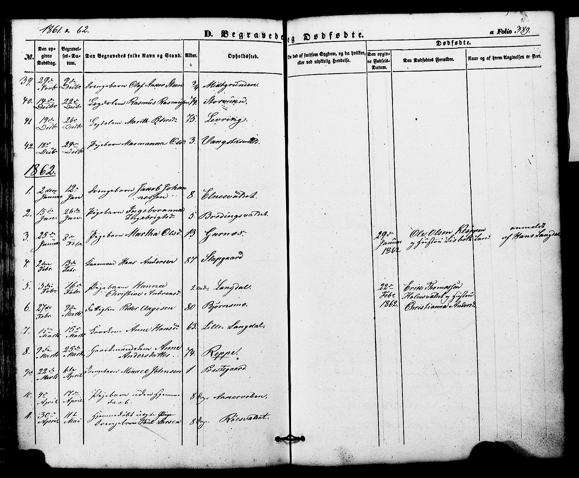 SAT, Ministerialprotokoller, klokkerbøker og fødselsregistre - Nord-Trøndelag, 724/L0268: Klokkerbok nr. 724C04, 1846-1878, s. 389