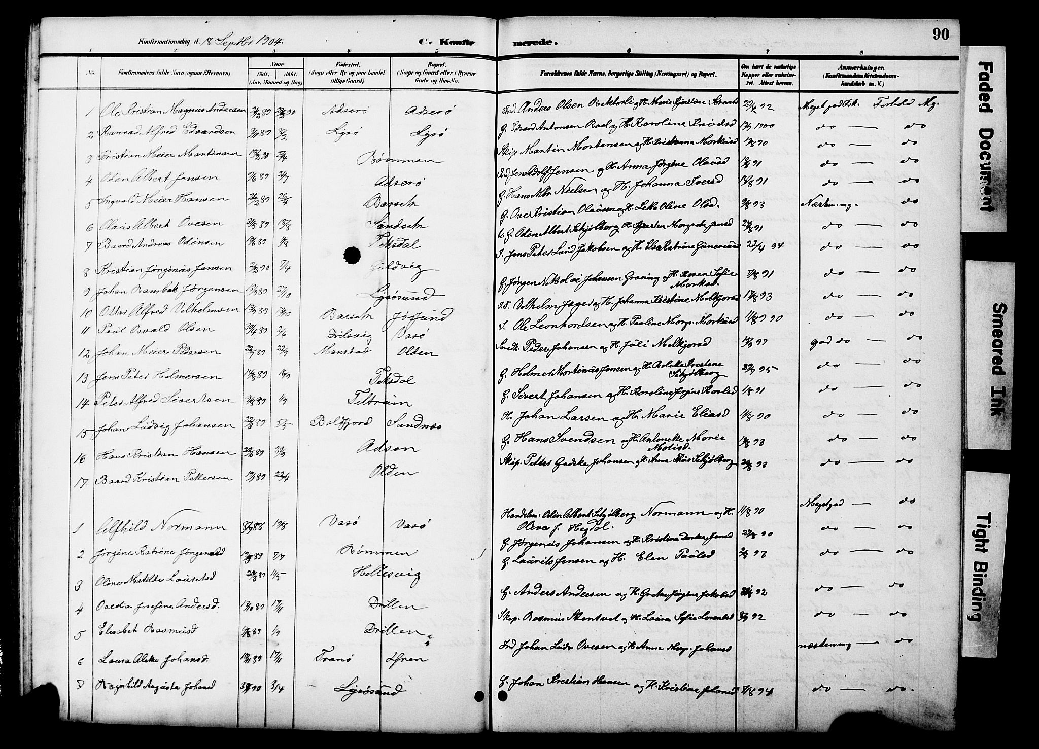SAT, Ministerialprotokoller, klokkerbøker og fødselsregistre - Sør-Trøndelag, 654/L0666: Klokkerbok nr. 654C02, 1901-1925, s. 90