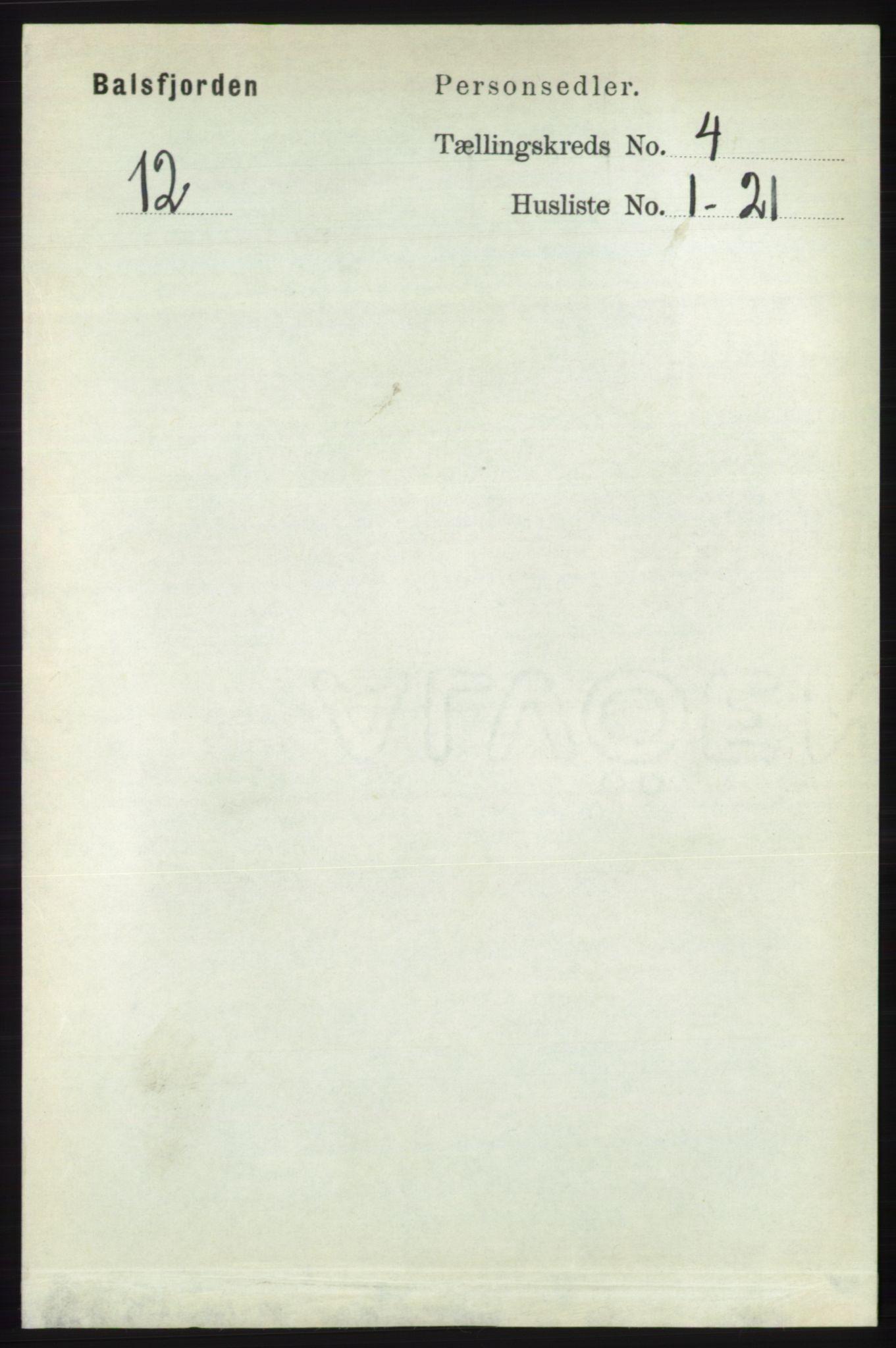 RA, Folketelling 1891 for 1933 Balsfjord herred, 1891, s. 1120