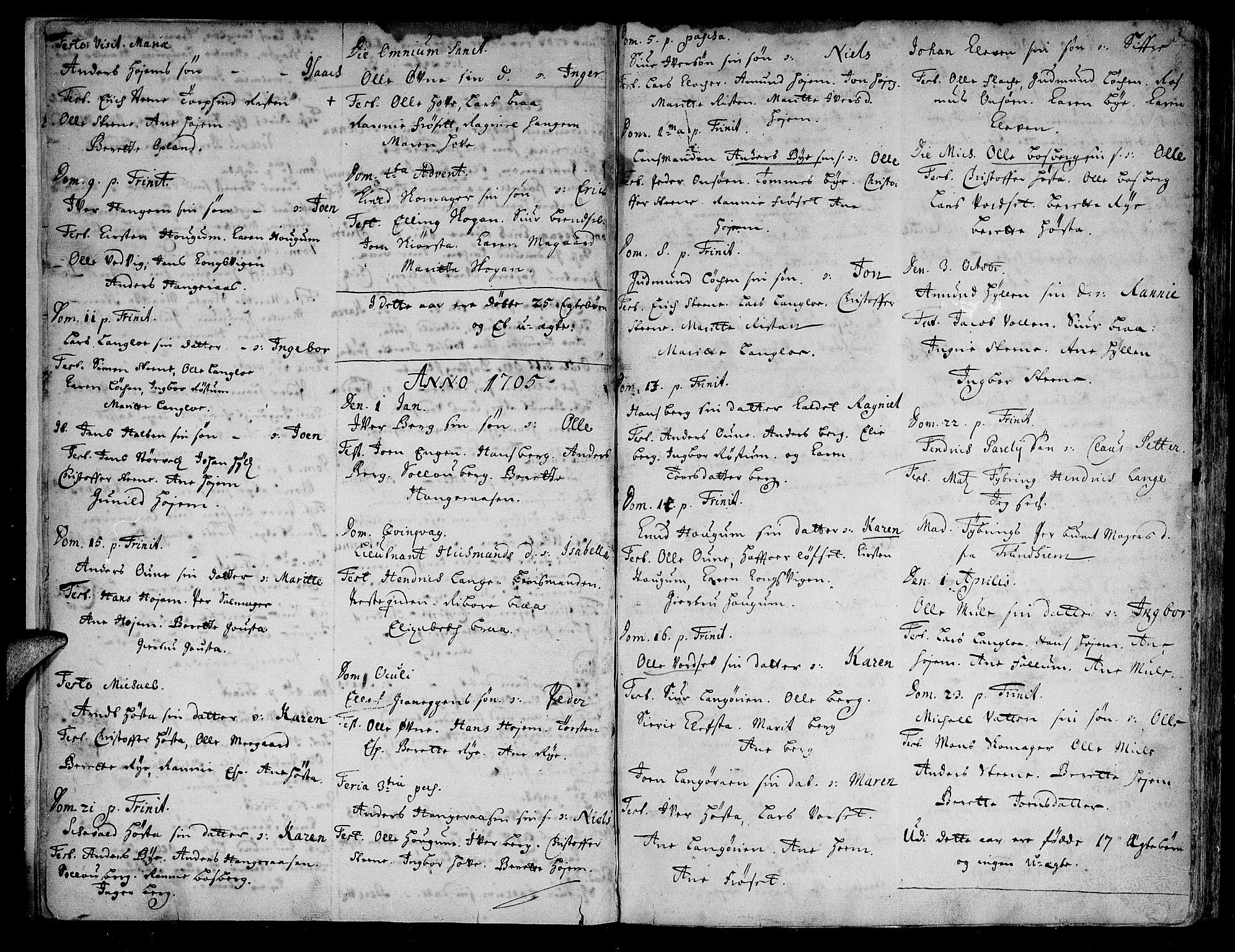 SAT, Ministerialprotokoller, klokkerbøker og fødselsregistre - Sør-Trøndelag, 612/L0368: Ministerialbok nr. 612A02, 1702-1753, s. 3