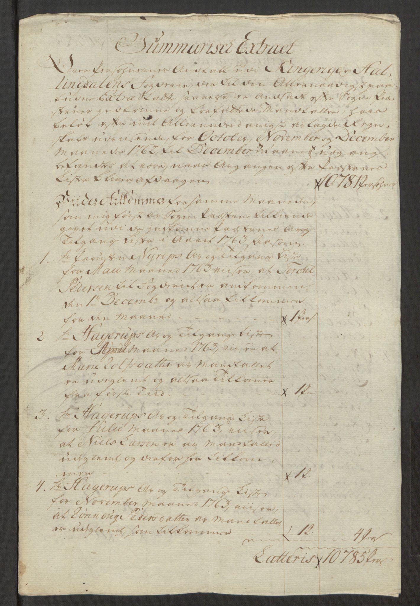 RA, Rentekammeret inntil 1814, Reviderte regnskaper, Fogderegnskap, R23/L1565: Ekstraskatten Ringerike og Hallingdal, 1762-1763, s. 355