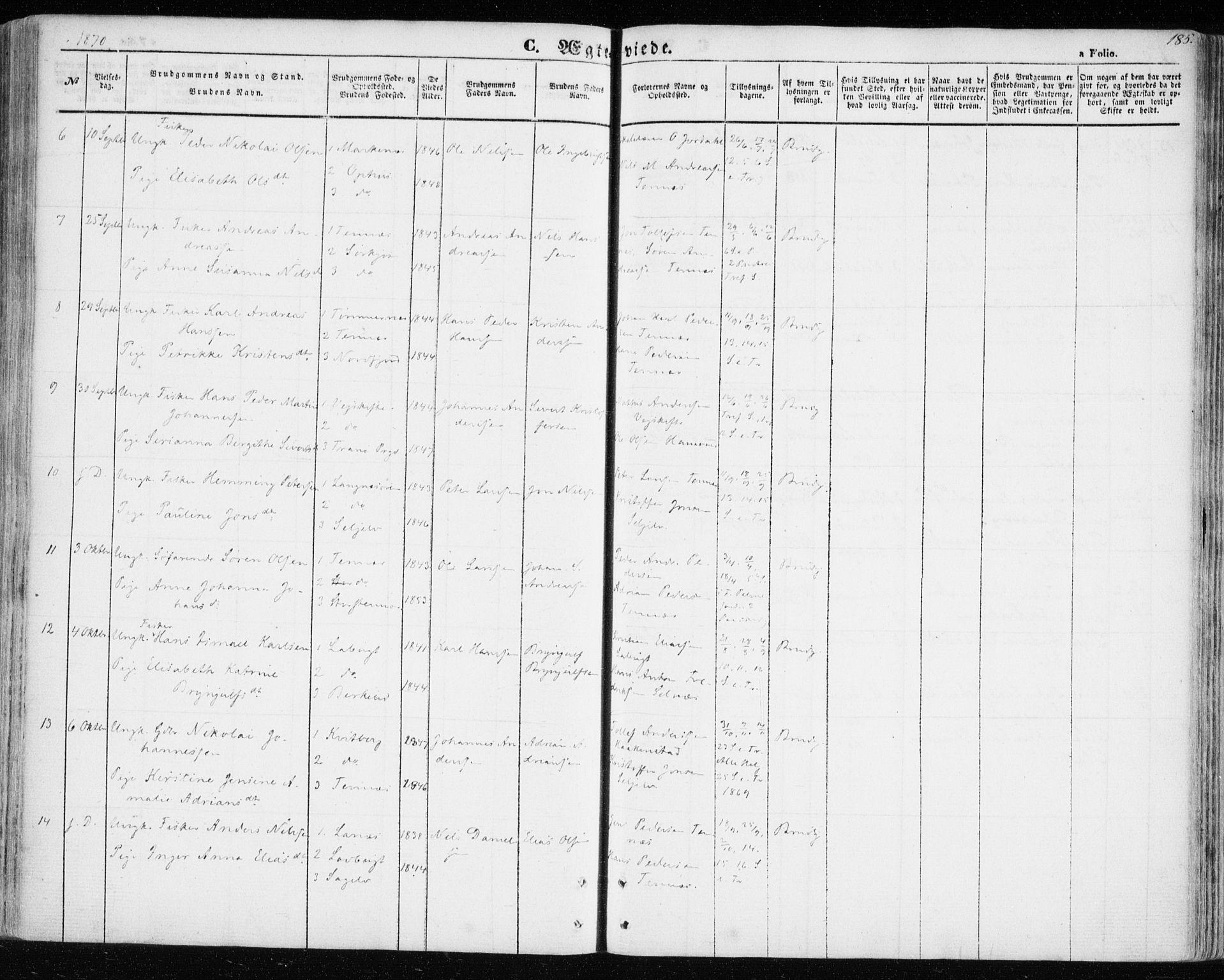 SATØ, Balsfjord sokneprestembete, Ministerialbok nr. 3, 1856-1870, s. 185