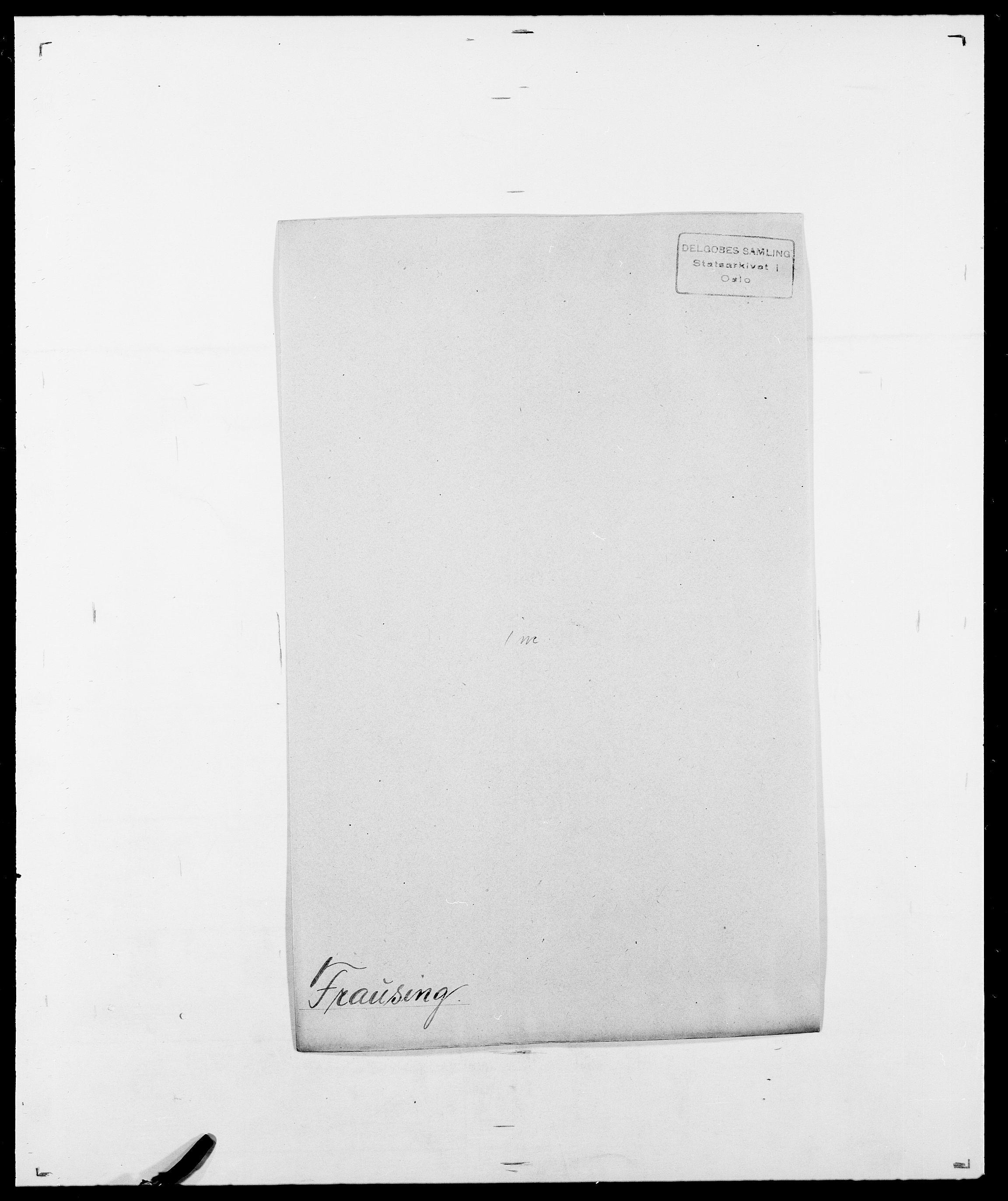 SAO, Delgobe, Charles Antoine - samling, D/Da/L0012: Flor, Floer, Flohr - Fritzner, s. 722