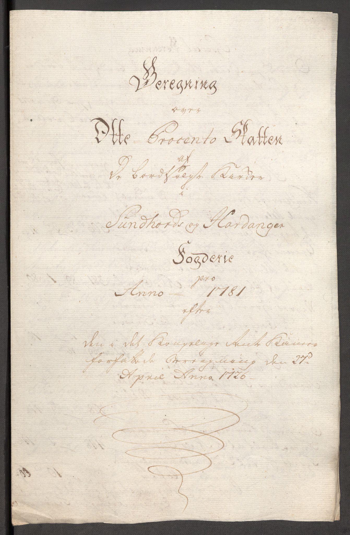 RA, Rentekammeret inntil 1814, Reviderte regnskaper, Fogderegnskap, R48/L3097: Fogderegnskap Sunnhordland og Hardanger, 1781, s. 99