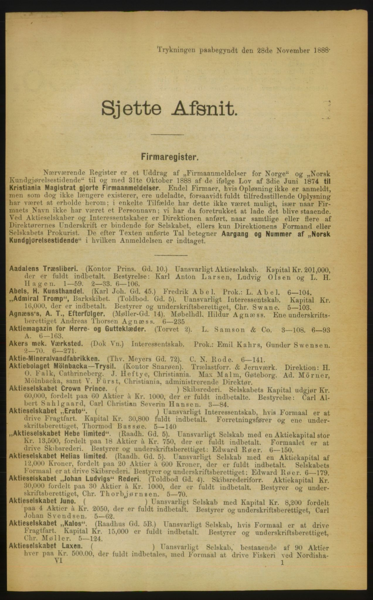 RA, Kristiania adressebok (publikasjon)*, 1889, s. 661