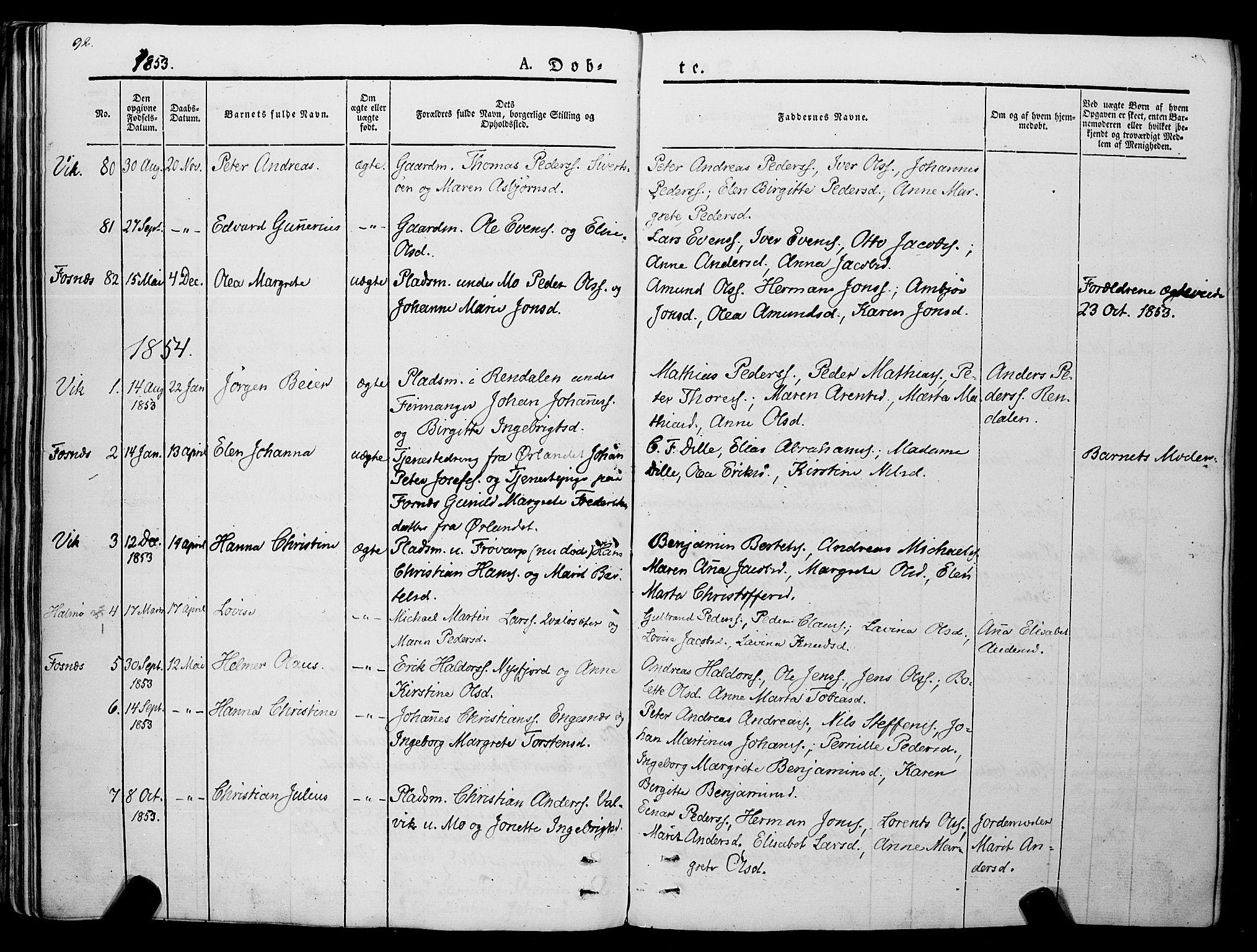 SAT, Ministerialprotokoller, klokkerbøker og fødselsregistre - Nord-Trøndelag, 773/L0614: Ministerialbok nr. 773A05, 1831-1856, s. 92